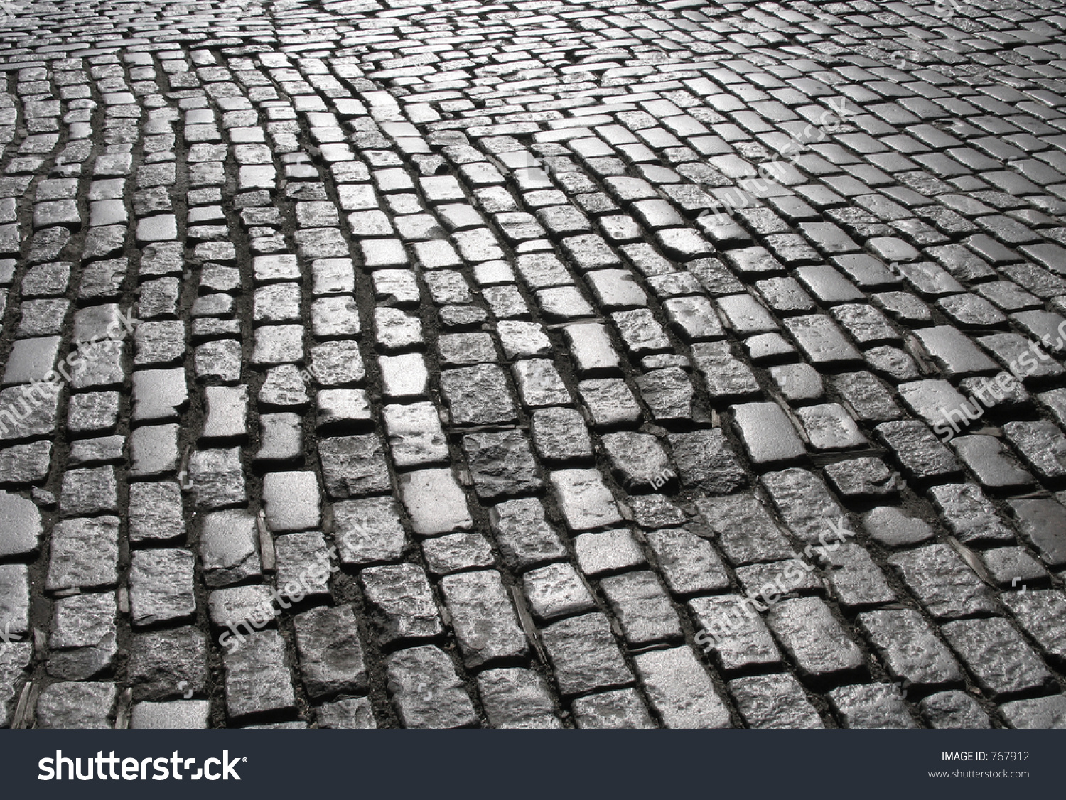 Manhattan Cobblestone Street 2 Stock Photo 767912