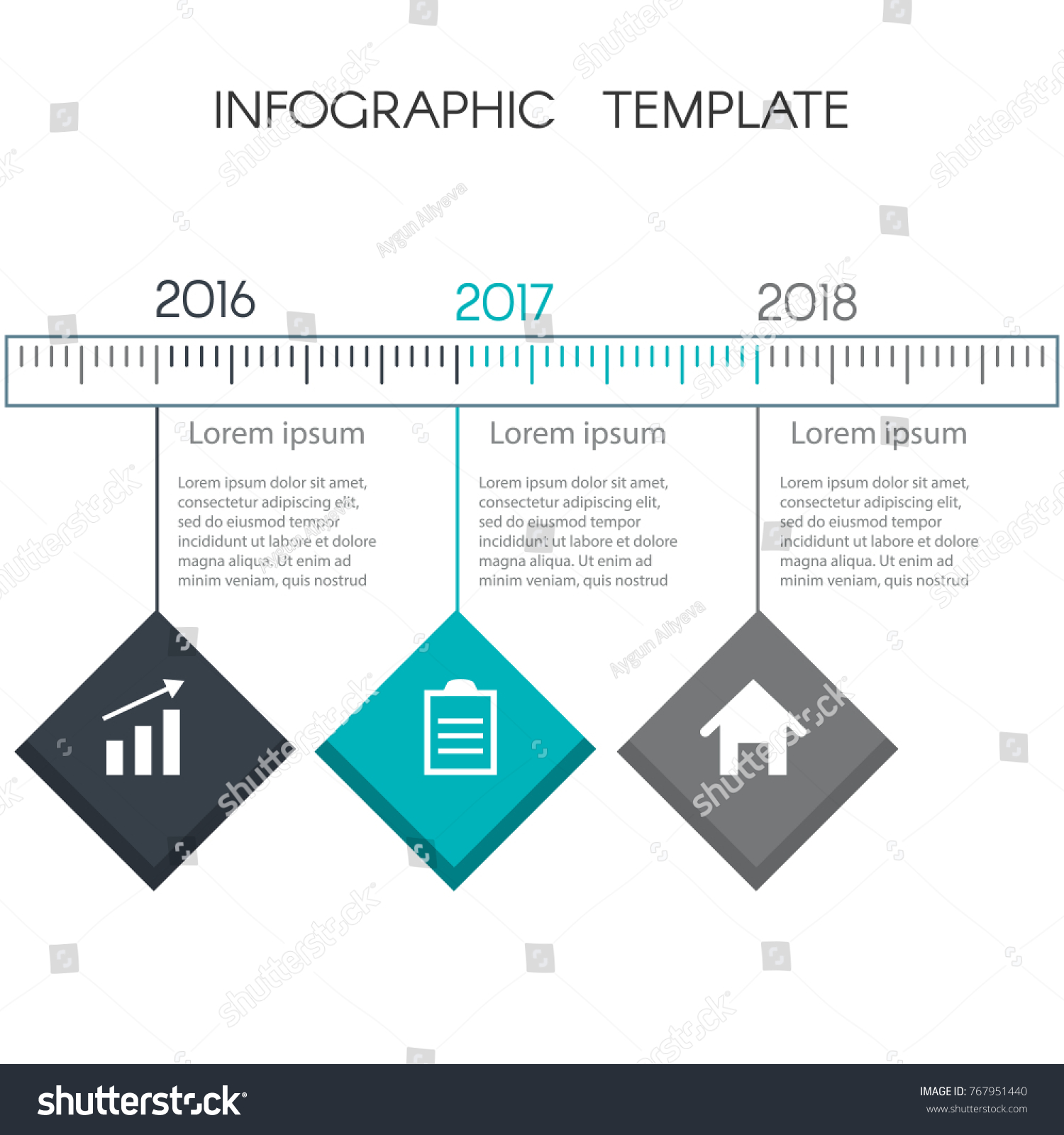 colorful timeline infographic squares template graphics stock vector