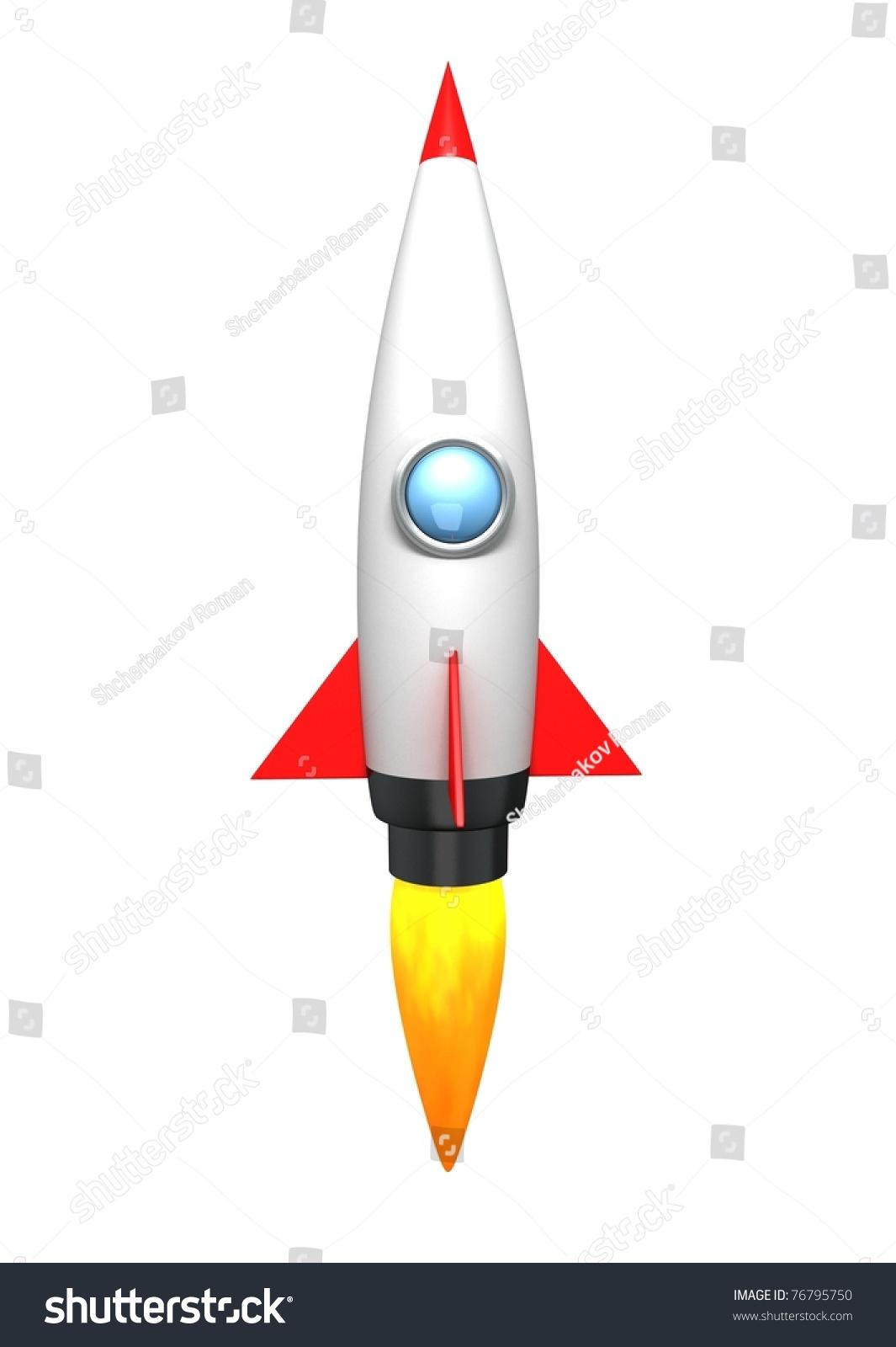 Cartoon Rocket Stock Illustration 76795750 - Shutterstock