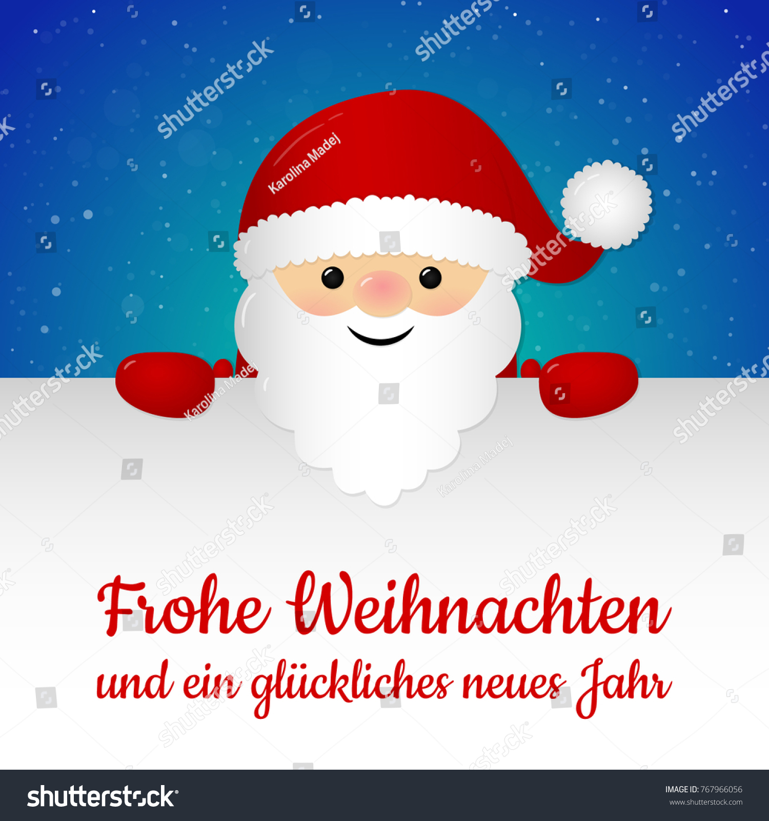 merry christmas in german frohe weihnachten concept of card with decoration vector