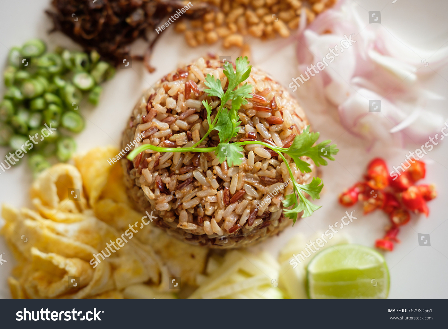 Top View Shrimp Paste Fried Rice Stock Photo Edit Now