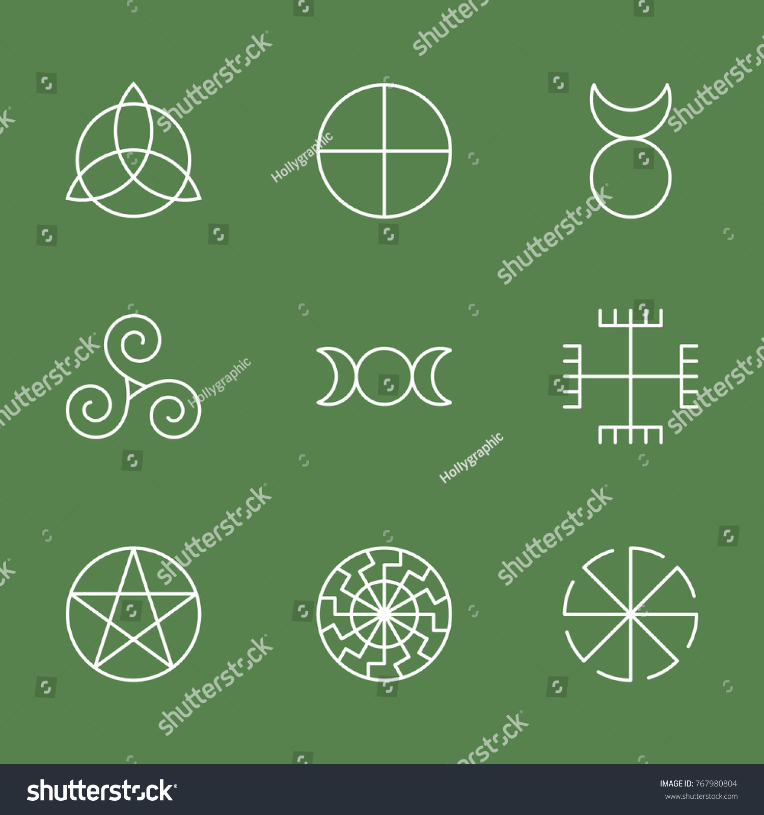 Pagan ancient symbols mystery sacred icons stock vector 767980804 pagan ancient symbols mystery sacred icons illustration vector buycottarizona