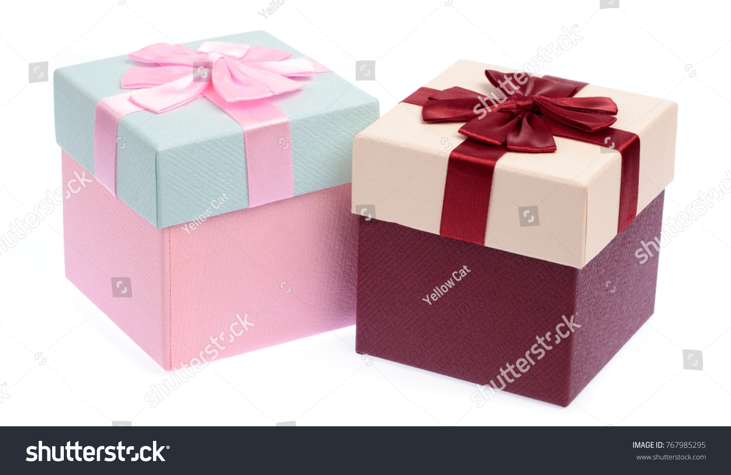 gifts box with ribbon isolated on white background | EZ Canvas