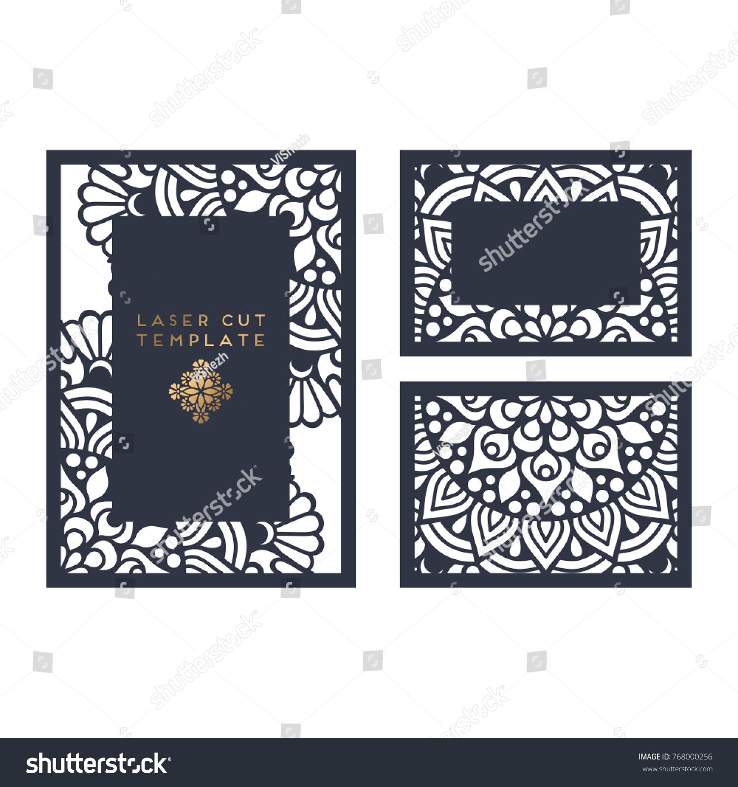 Vector wedding card laser cut template | EZ Canvas