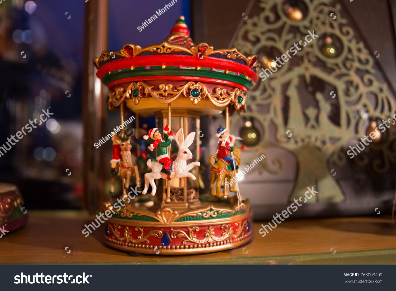 Christmas Carousel Recreation 2021 Christmas Carousel Toy Imagine How Carousel Stock Photo Edit Now 768003409