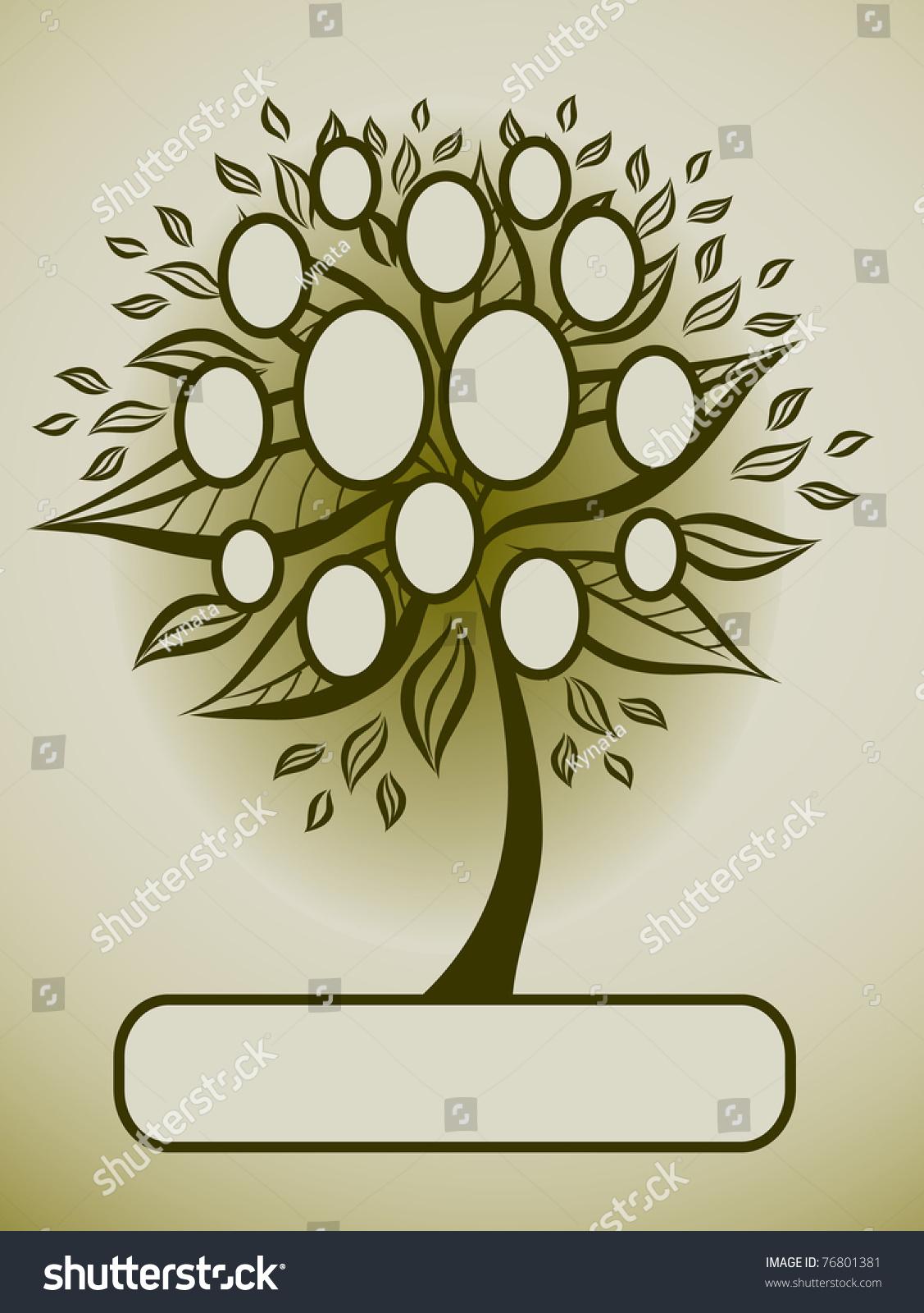 Vector Family Tree Design Frames Autumn Stock Vector 76801381 ...