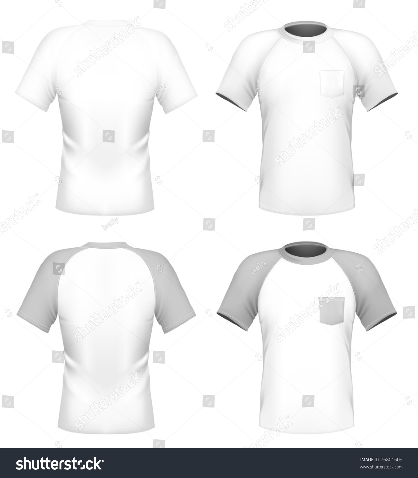Vector men 39 s t shirt design template with pocket front for Front pocket t shirt design