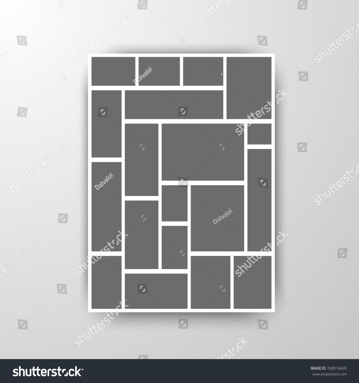 Templates Collage Frames Photo Illustration Vector Vector de ...