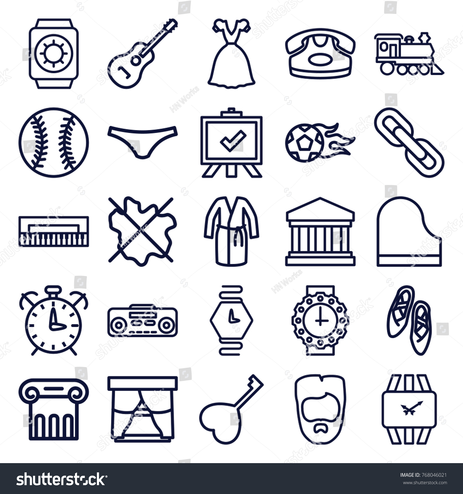 Set 25 classic outline icons such stock vector 768046021 set of 25 classic outline icons such as greek column desk phone man hairstyle biocorpaavc