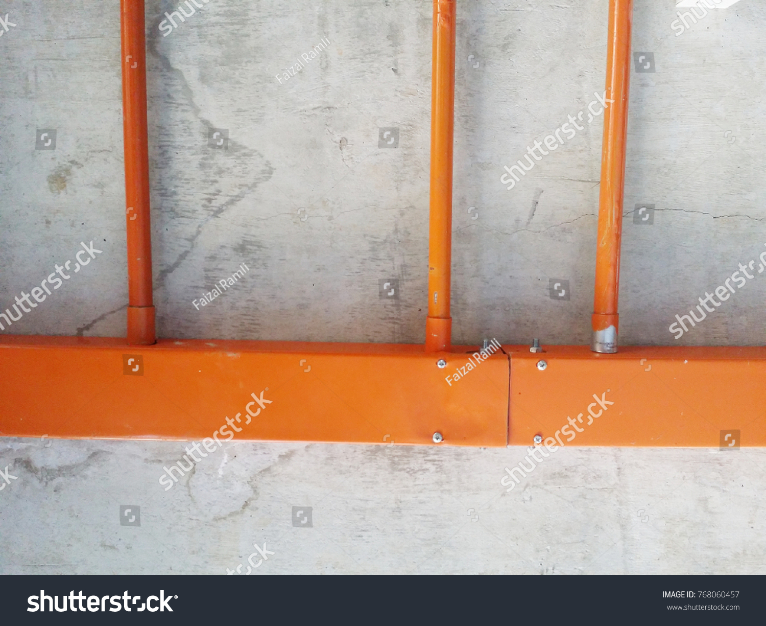 Electrical Metal Trunking Galvanized Conduit Pipe Industrial Stock Image 768060457