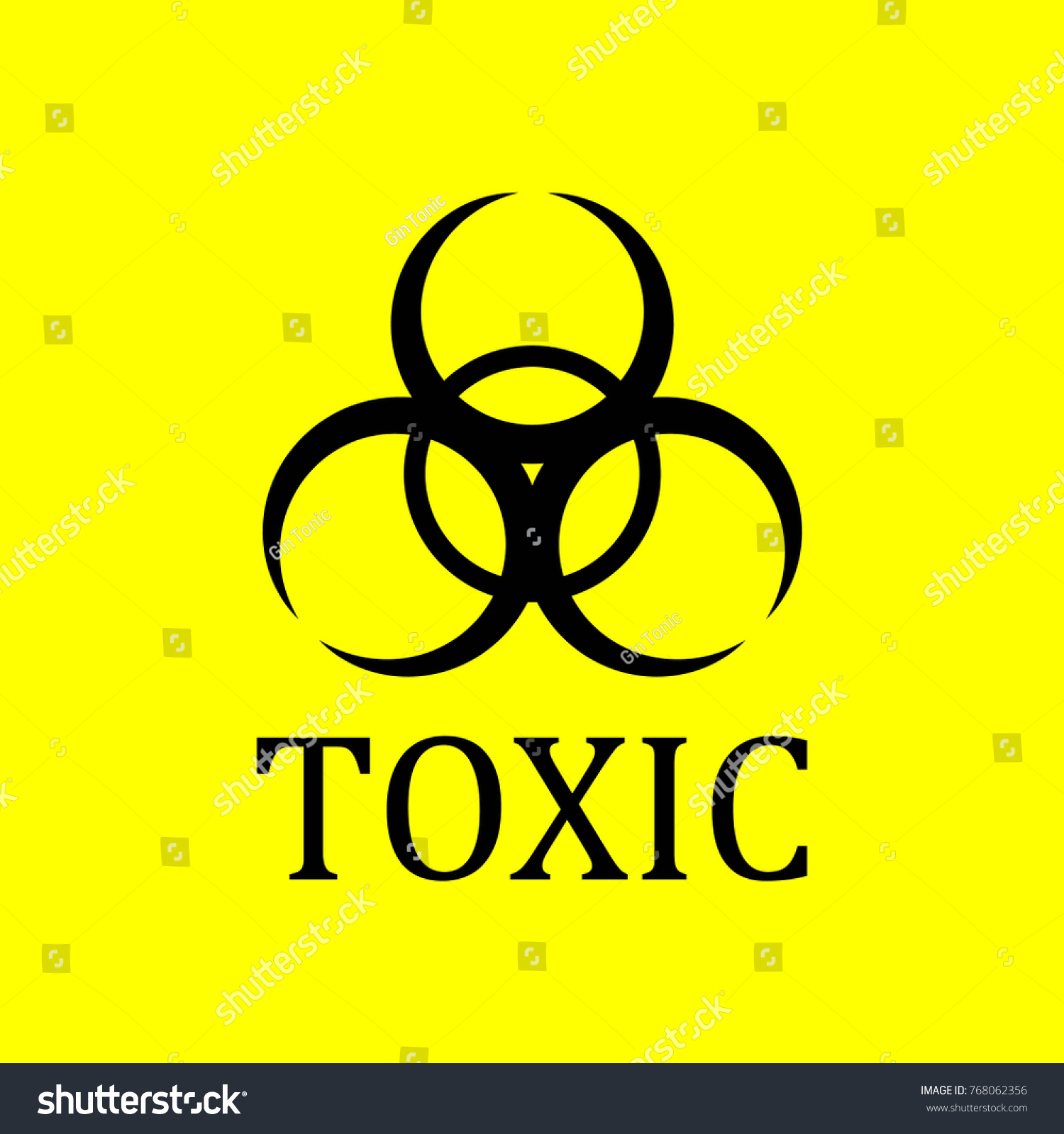 Toxic Signage Icon Biological Danger Hospital Chemical Stock