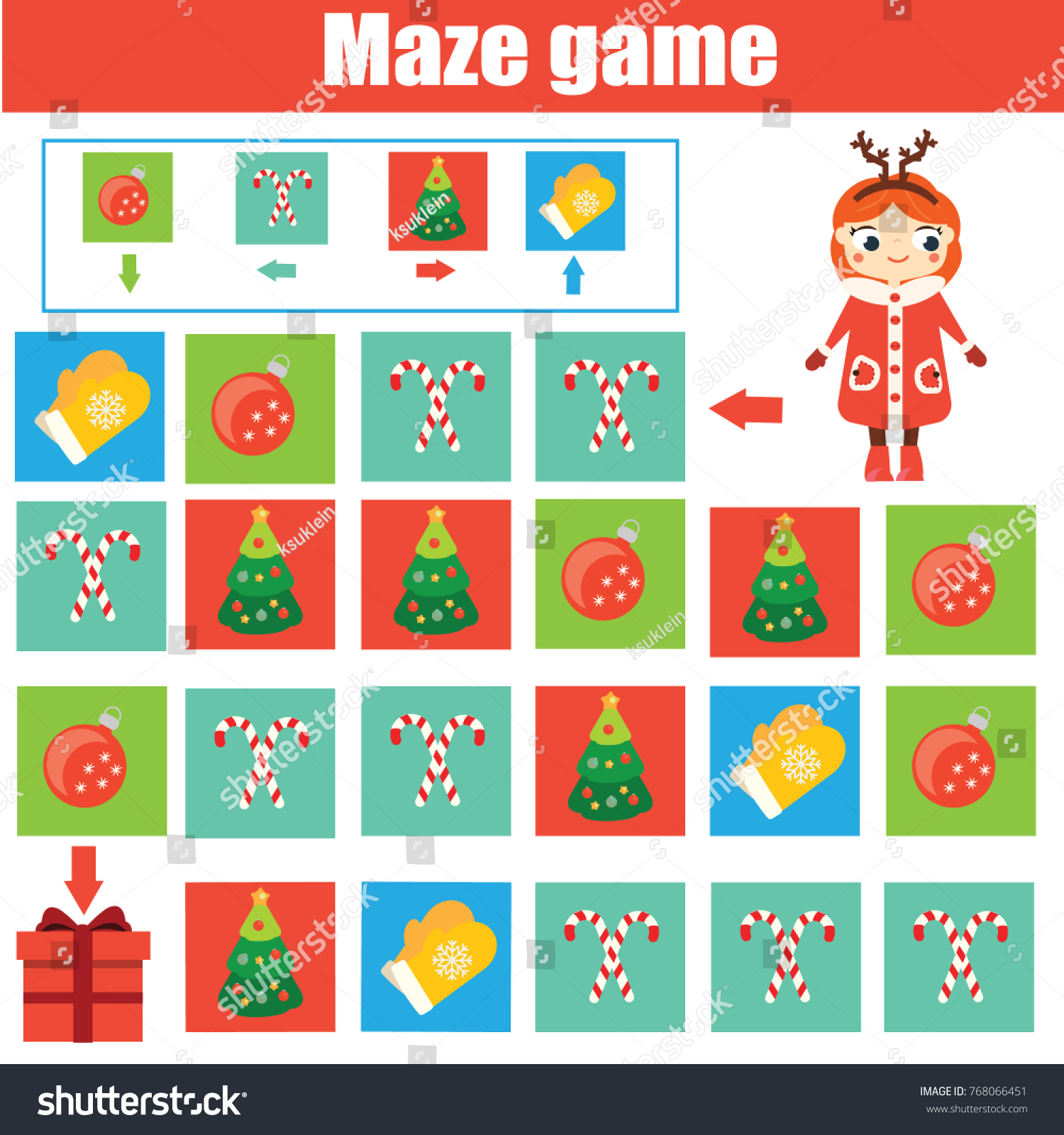 Maze children game help kid go stock illustration 768066451 maze children game help kid go through the labyrinth and find gift toddlers activity negle Choice Image