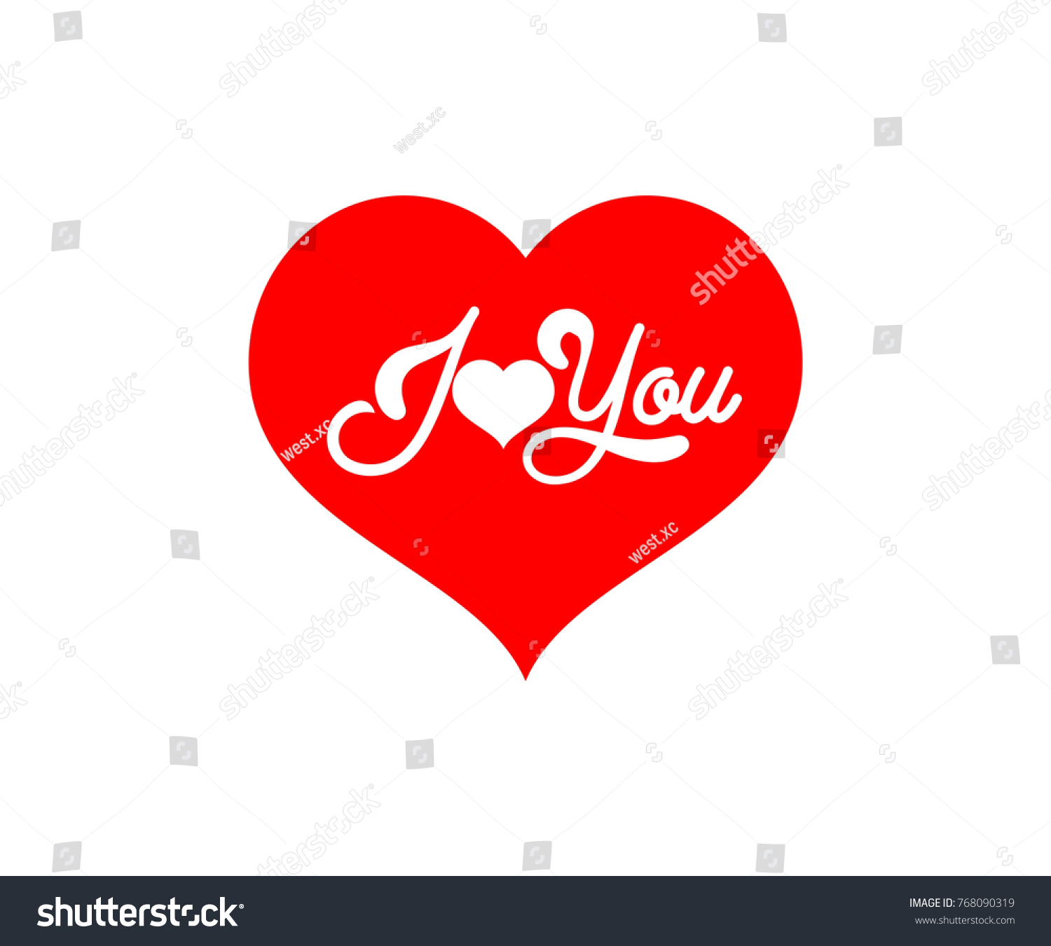 Heart Red Color Logo Symbol Valentine Stock Vector 768090319