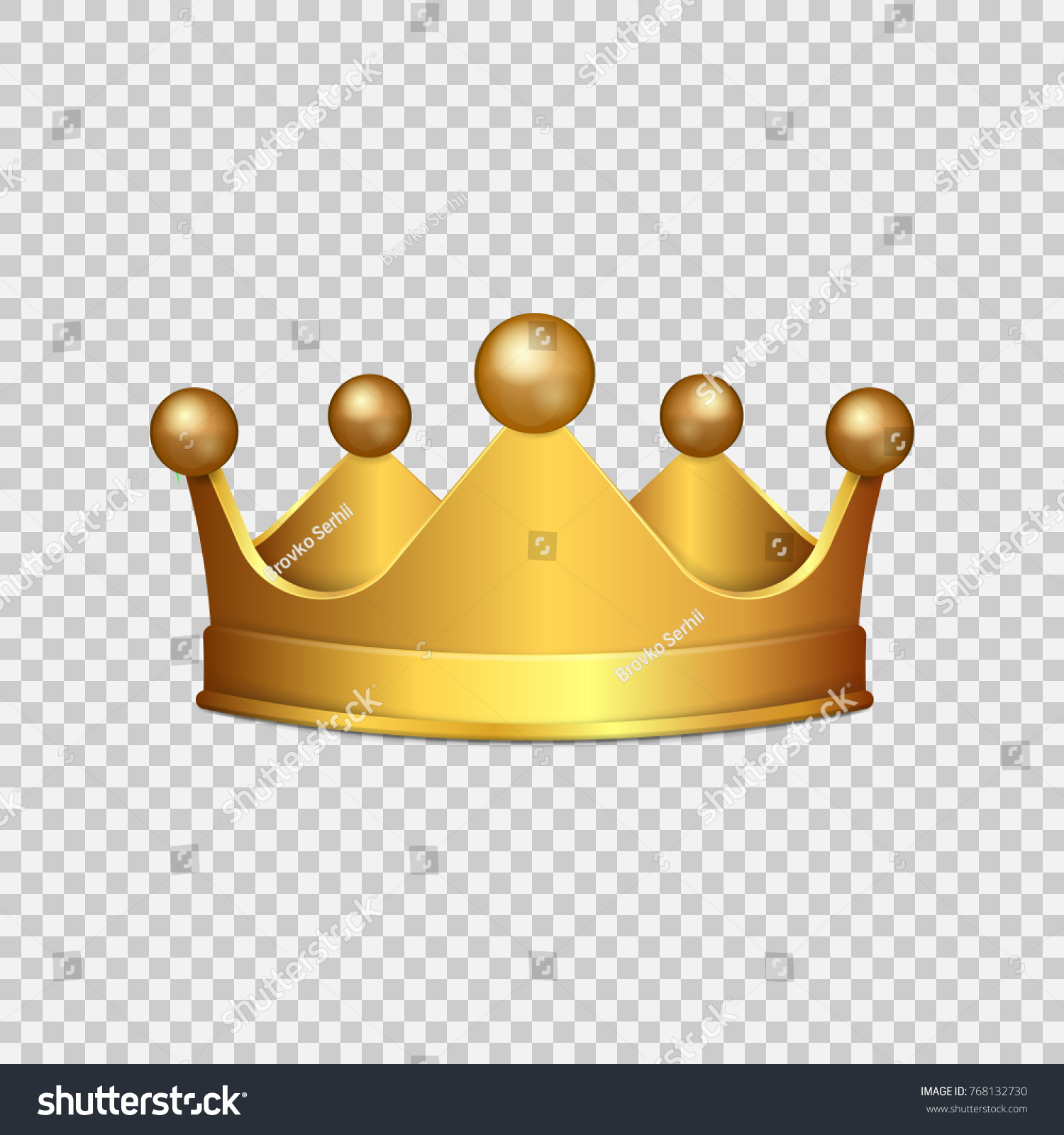 Gold Crown Png Vector