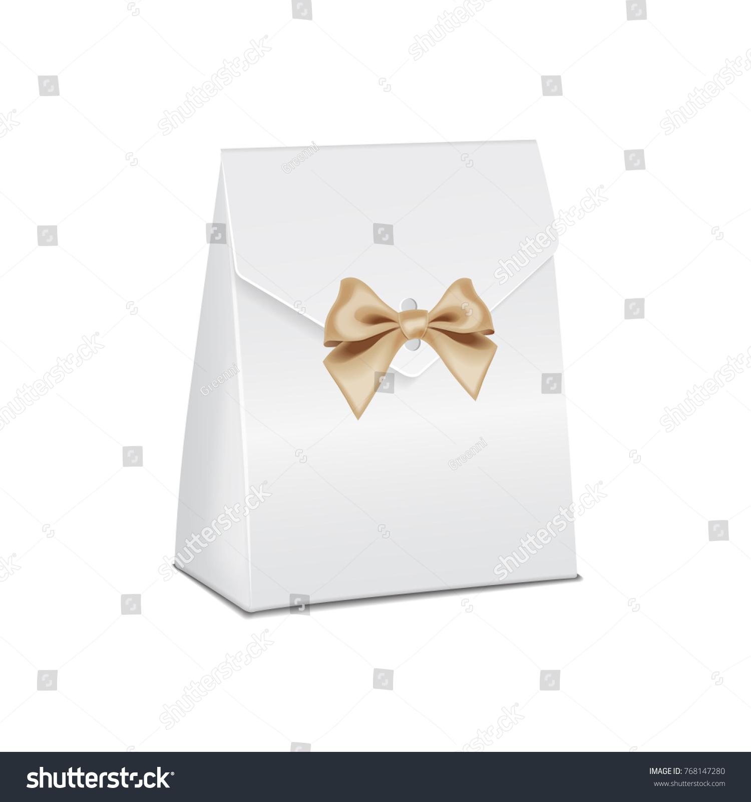 Realistic White 3 D Model Cardboard Gift Stock Vector 768147280 ...
