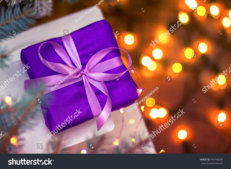 Christmas tree of satin ribbons