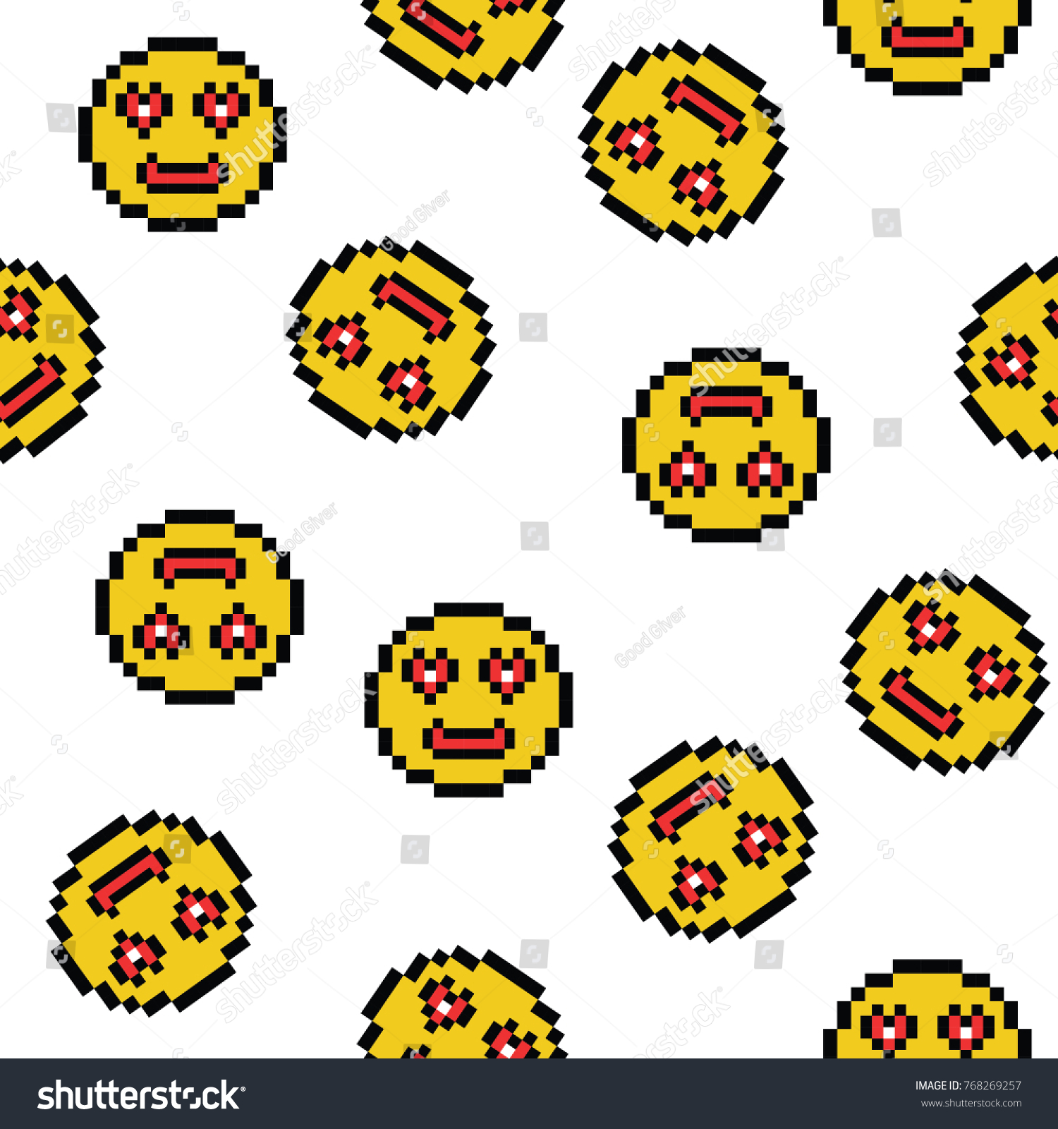 emoticons smile people faces vector seamless stock vector 768269257