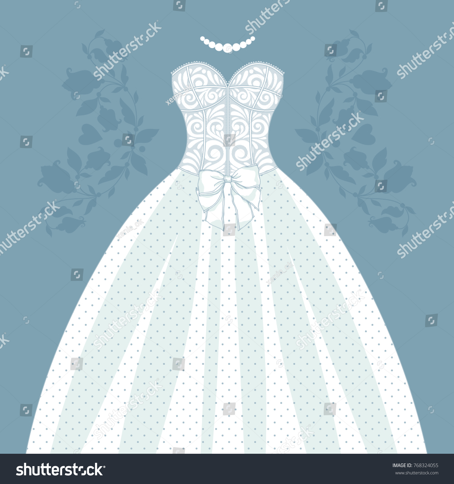 Template Cards Invitations Wedding Dress Can Stock Vector 768324055 ...