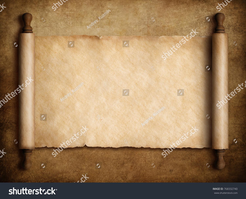 foto de Ilustración de stock sobre pergamino sobre fondo de papel antiguo ...