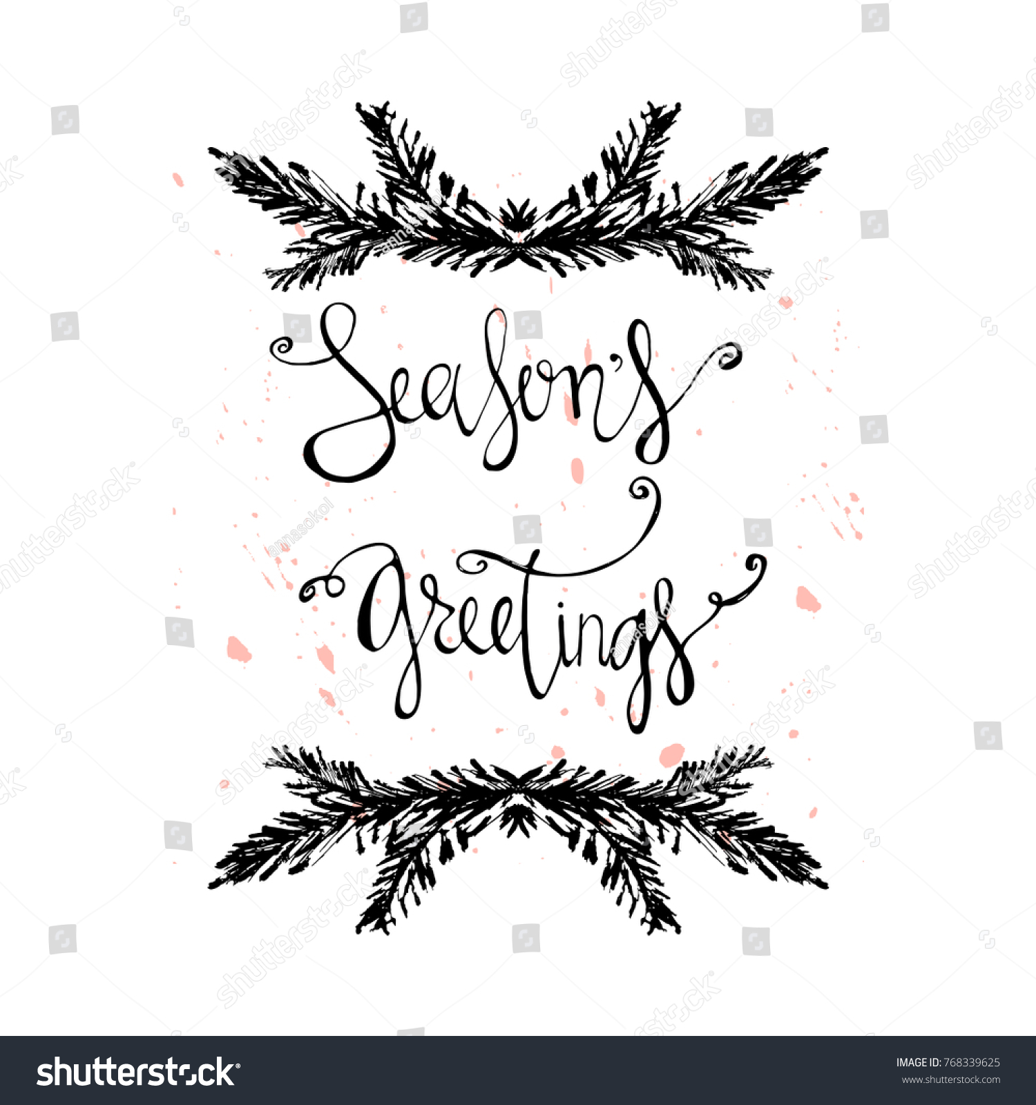 Seasons greetings xmas hand drawn christmas stock vector 768339625 seasons greetings xmas hand drawn christmas tree branch and lettering card design cute xmas holiday kristyandbryce Choice Image