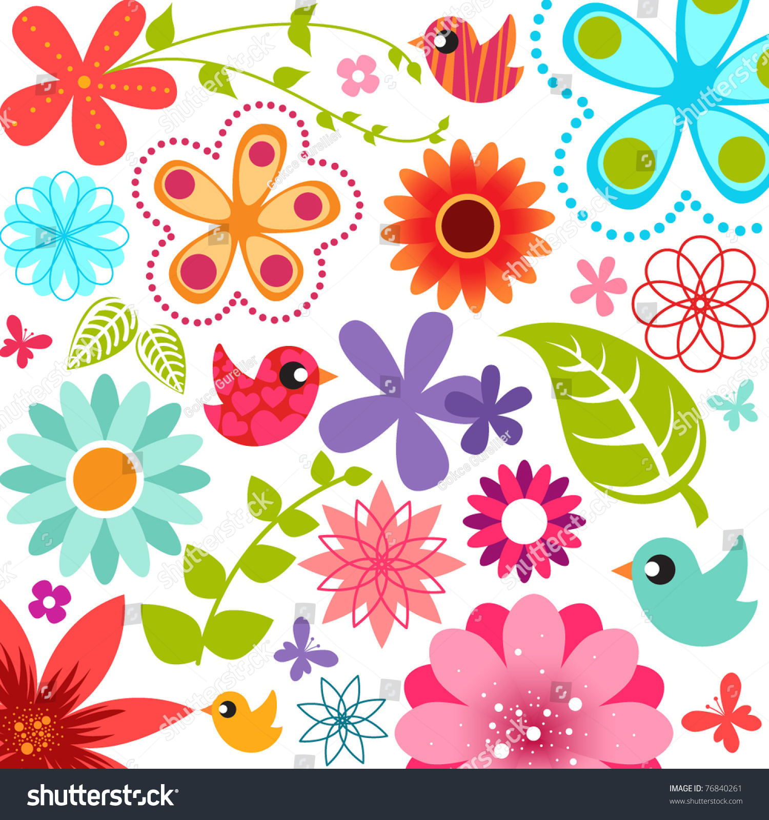Spring Flower Backgrounds Clipart