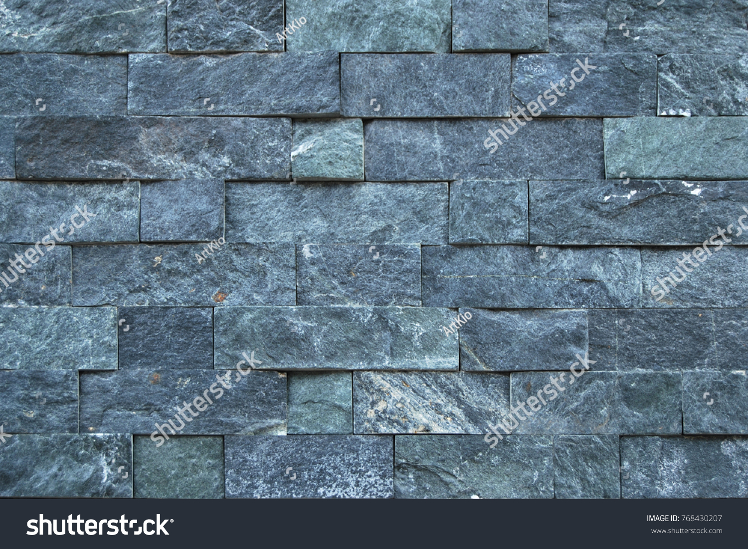 Blue Natural Stone Cladding Wall Texture