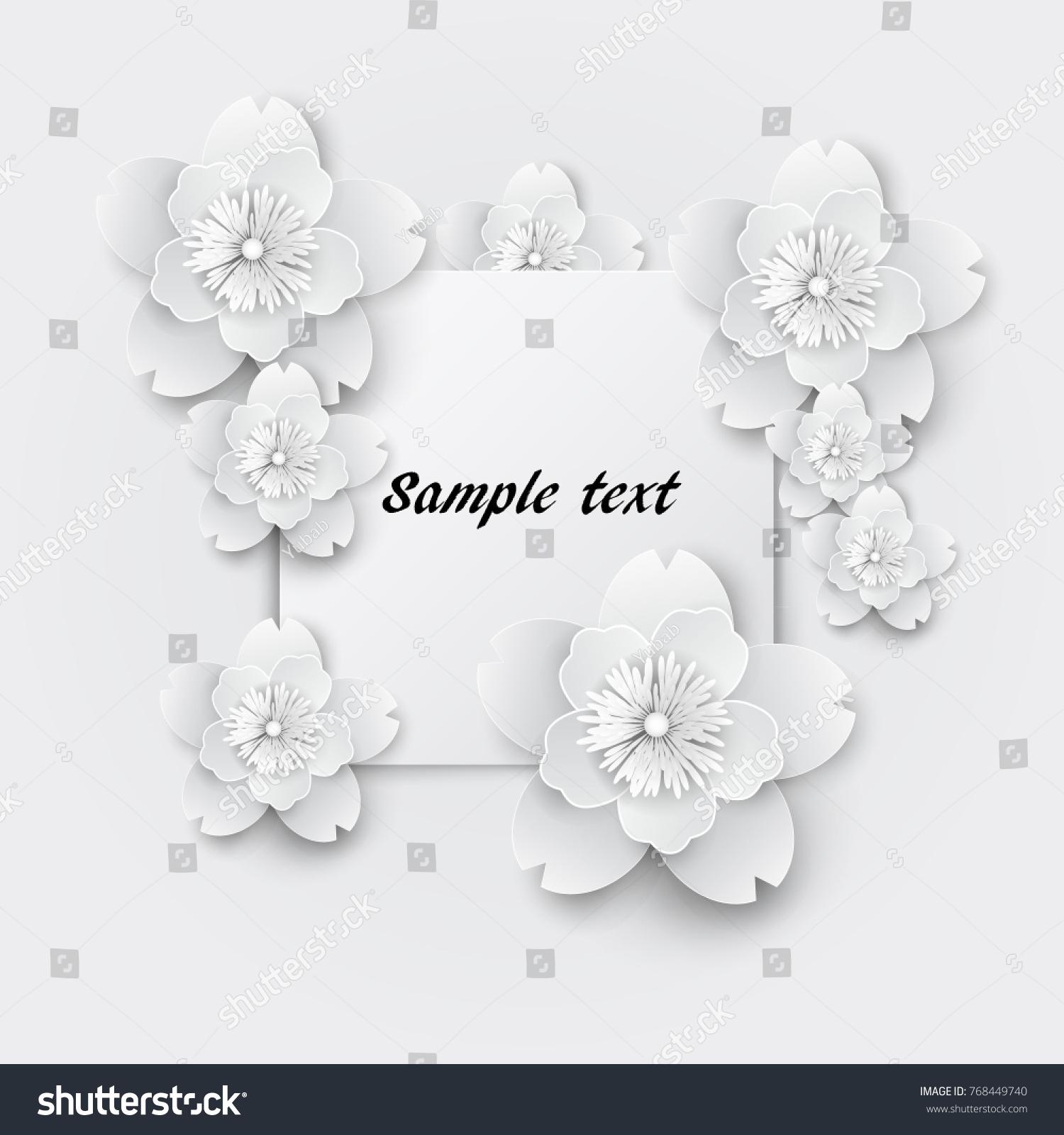 Paper Art Flowers Background Paper Cut Vector Stock Ez Canvas