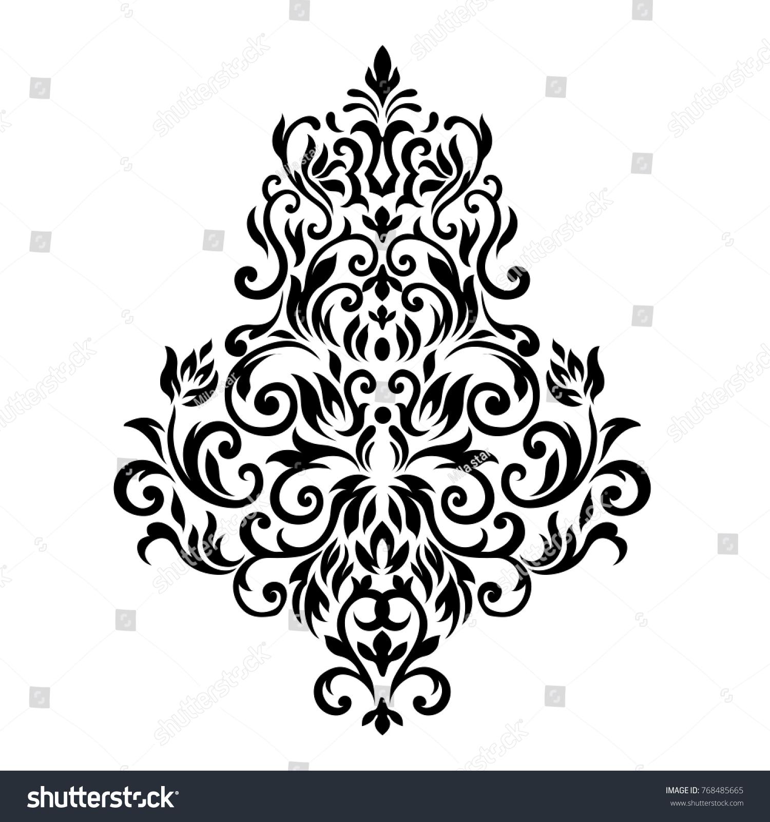 Victorian Style Ornate Element Design Place Stock Illustration ...