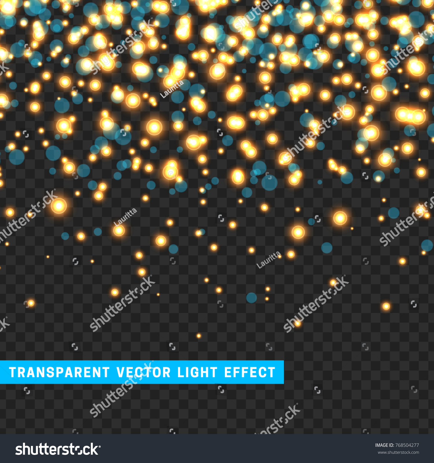 light effect sparkle vector transparent background stock vector