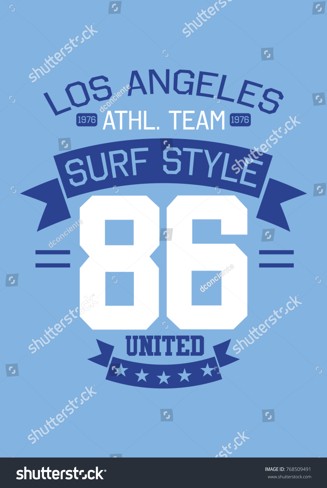 Varsity Numbers College Apparel Vector Poster Stock Vector
