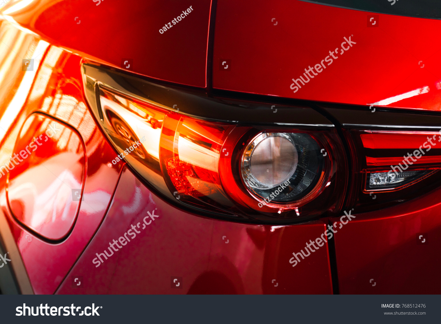 Car Tail Light Red Color Customers Stock Photo & Image (Royalty-Free ...