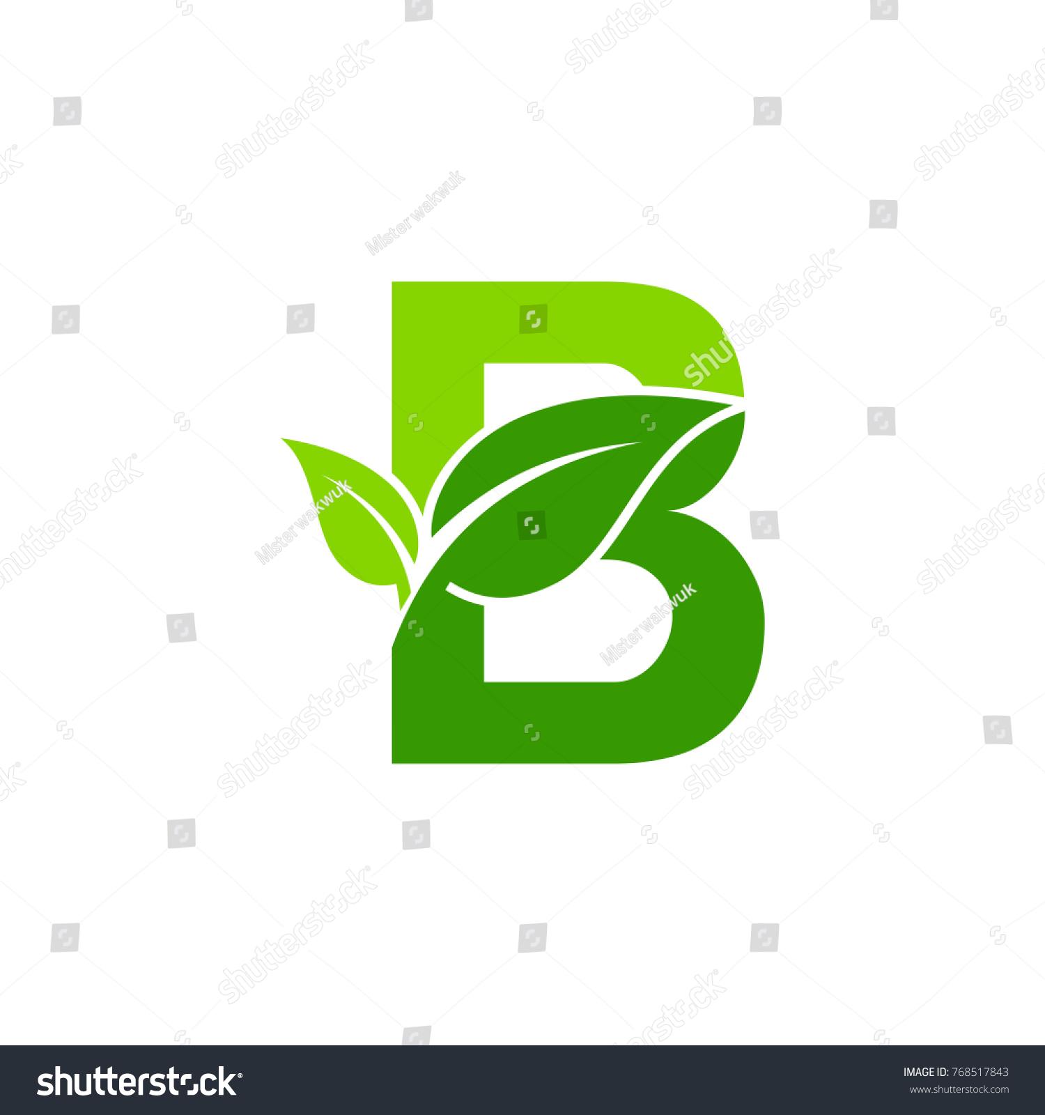 Initials b icon design nature green stock vector 768517843 initials b icon design nature green leaf symbol biocorpaavc Gallery