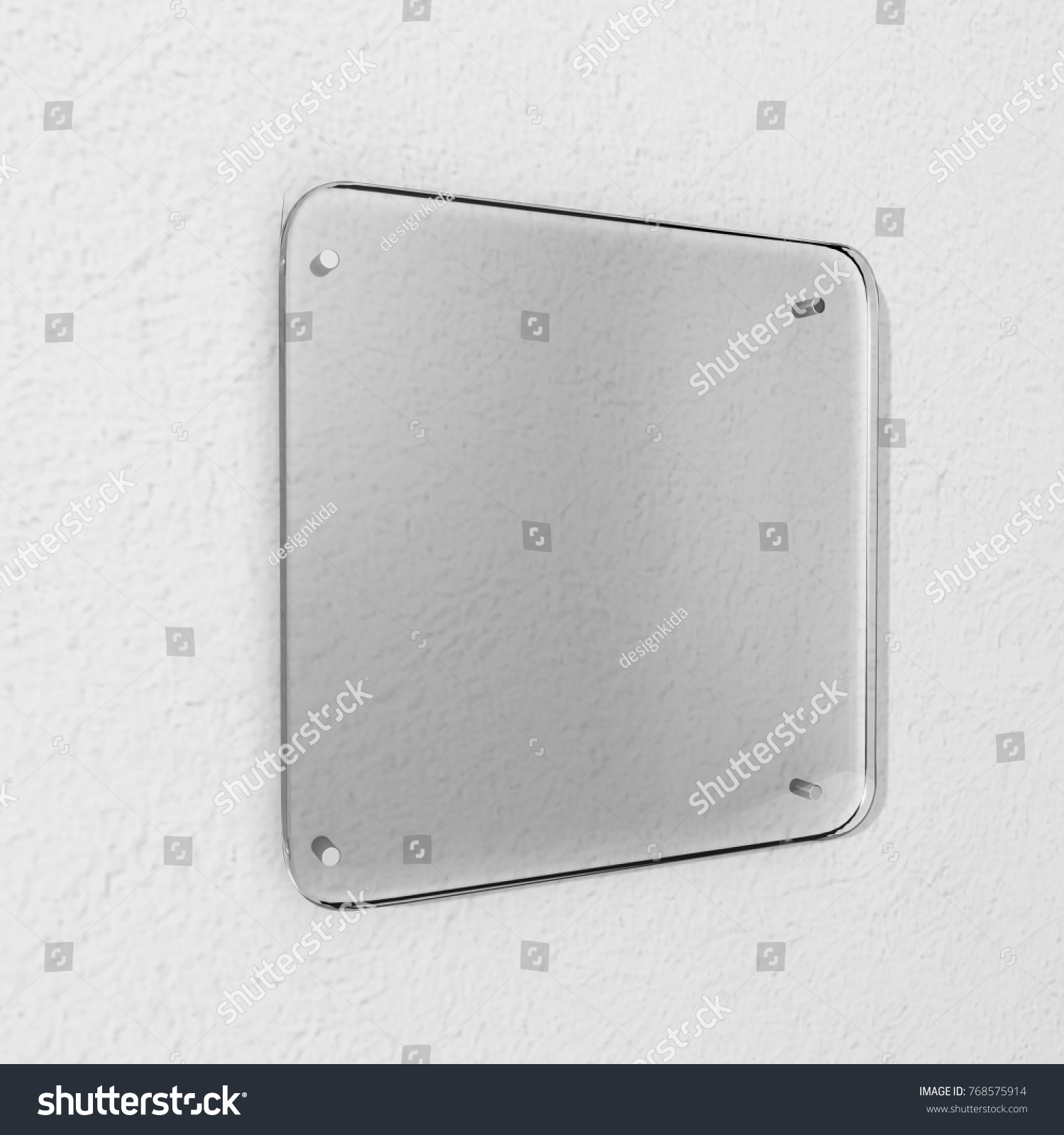 Blank Transparent Glass Interior Office Corporate Stock Illustration