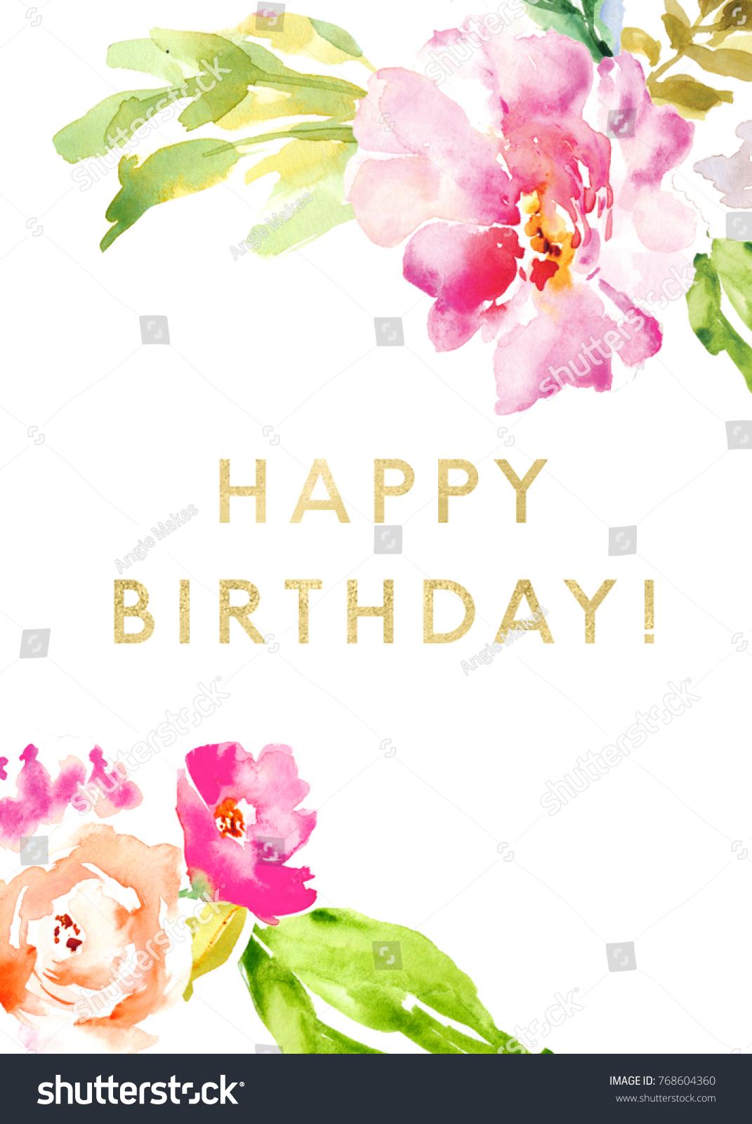Cute printable happy birthday card flowers stock illustration cute printable happy birthday card with flowers kristyandbryce Gallery