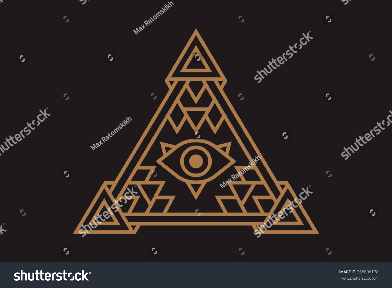 All seeing icon illustration symbol illuminati stock vector all seeing icon illustration the symbol of the illuminati eye in the pyramid in biocorpaavc