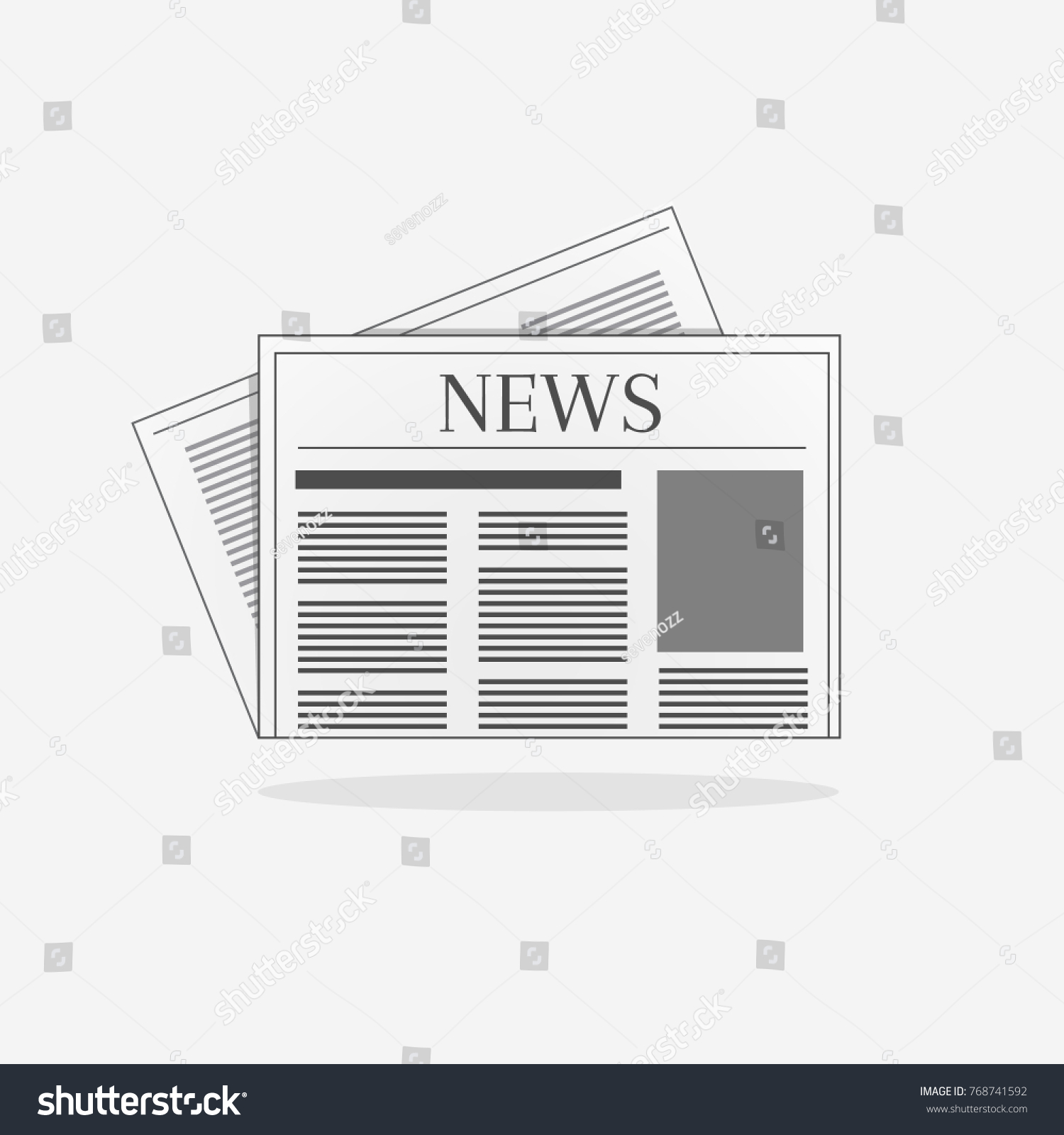Newspaper Sign Illustration News Page Template Stock Vector Royalty