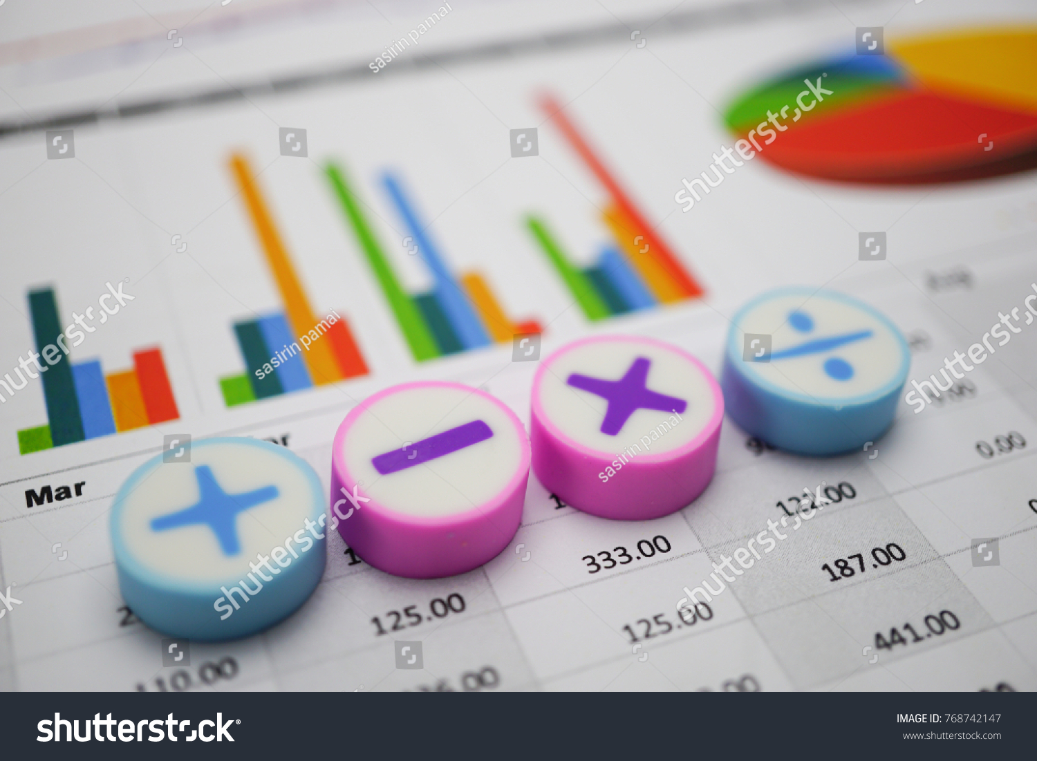 Math symbols charts graphs paper financial stock photo 768742147 math symbols charts graphs paper financial banking accounting statistics investment analytic research data biocorpaavc Images