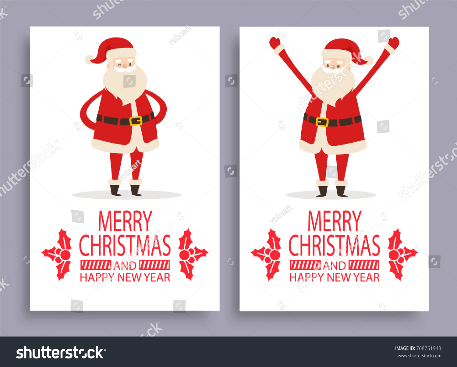 Calligraphic inscription mistletoe branches santa claus stock calligraphic inscription with mistletoe branches and santa claus symbol of winter holidays vector postcard isolated buycottarizona Image collections