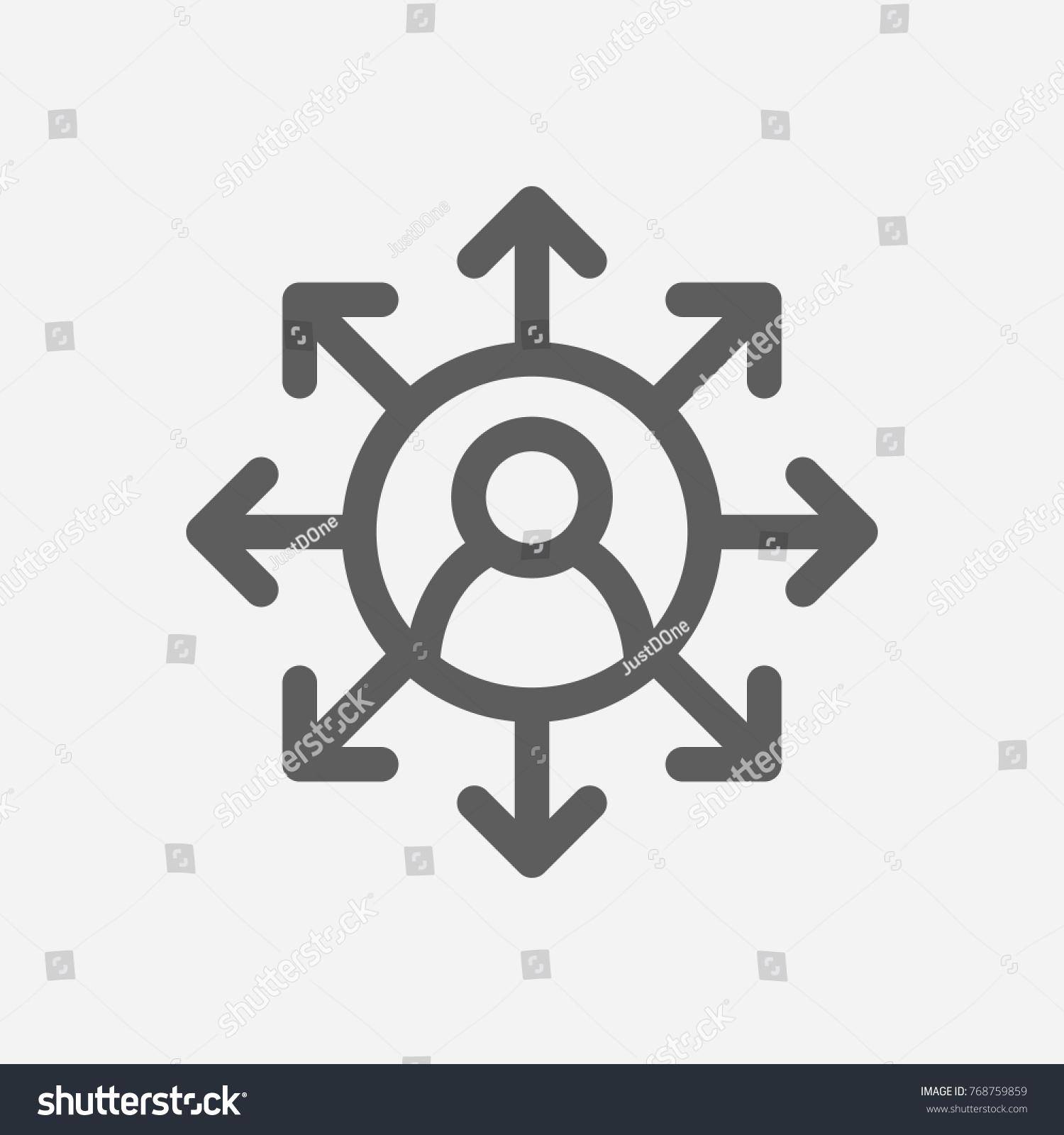 Core Values Accountability Icon Multitasking Line Stock Vector