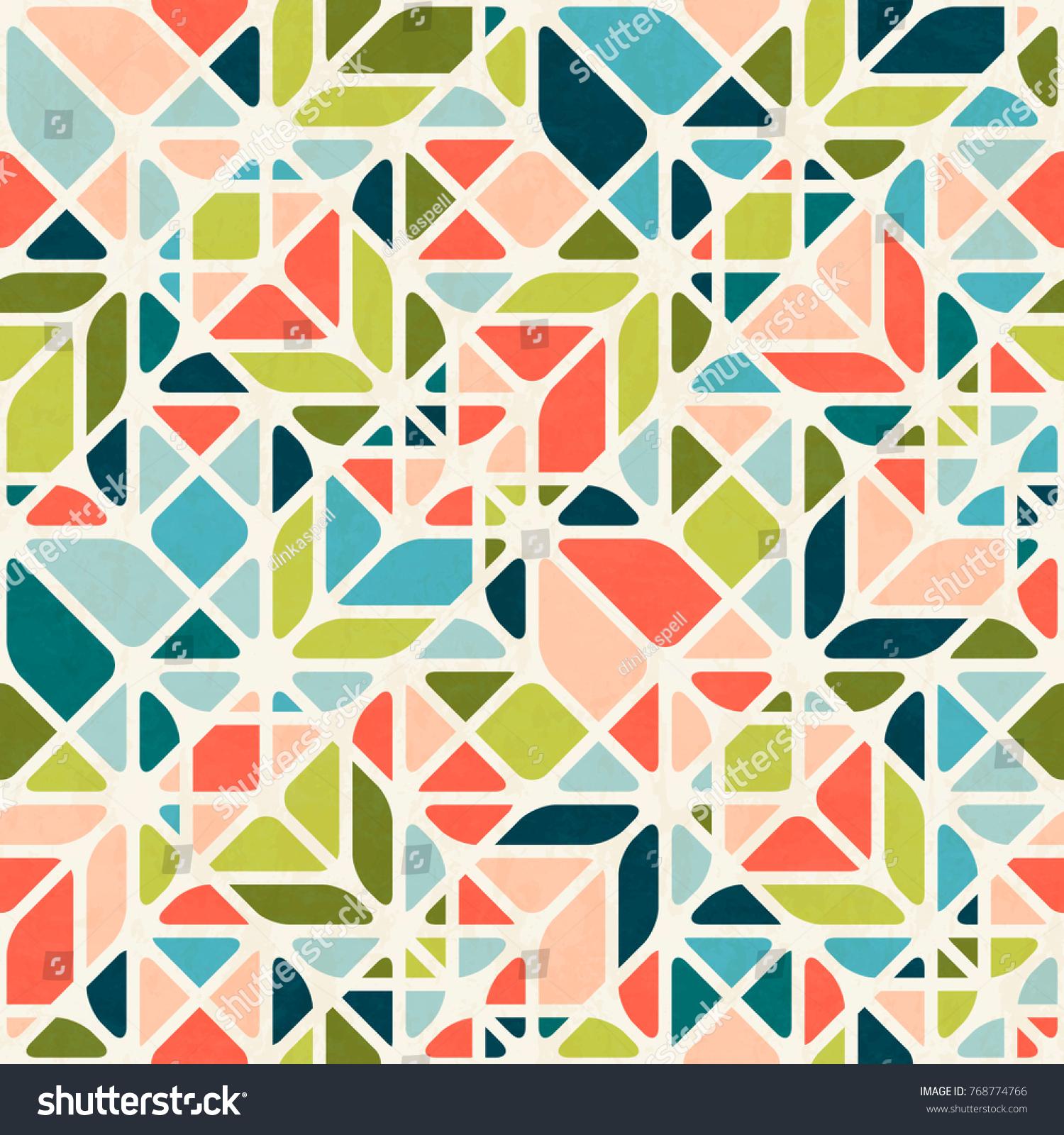 Abstract Geometric Seamless Pattern Midcentury Modern 768774766