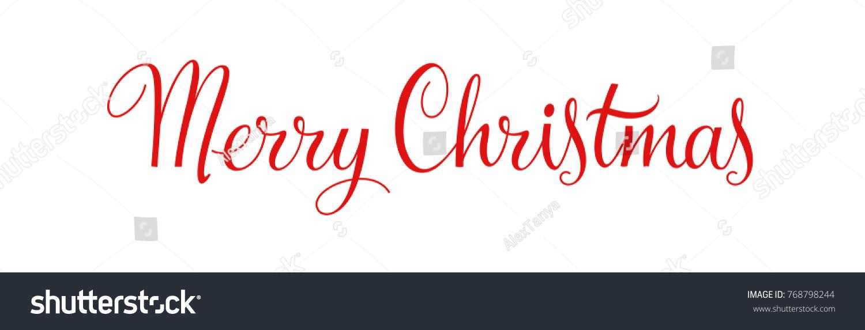 Merry Christmas Vintage Calligraphy Text Xmas Stock Illustration 768798244