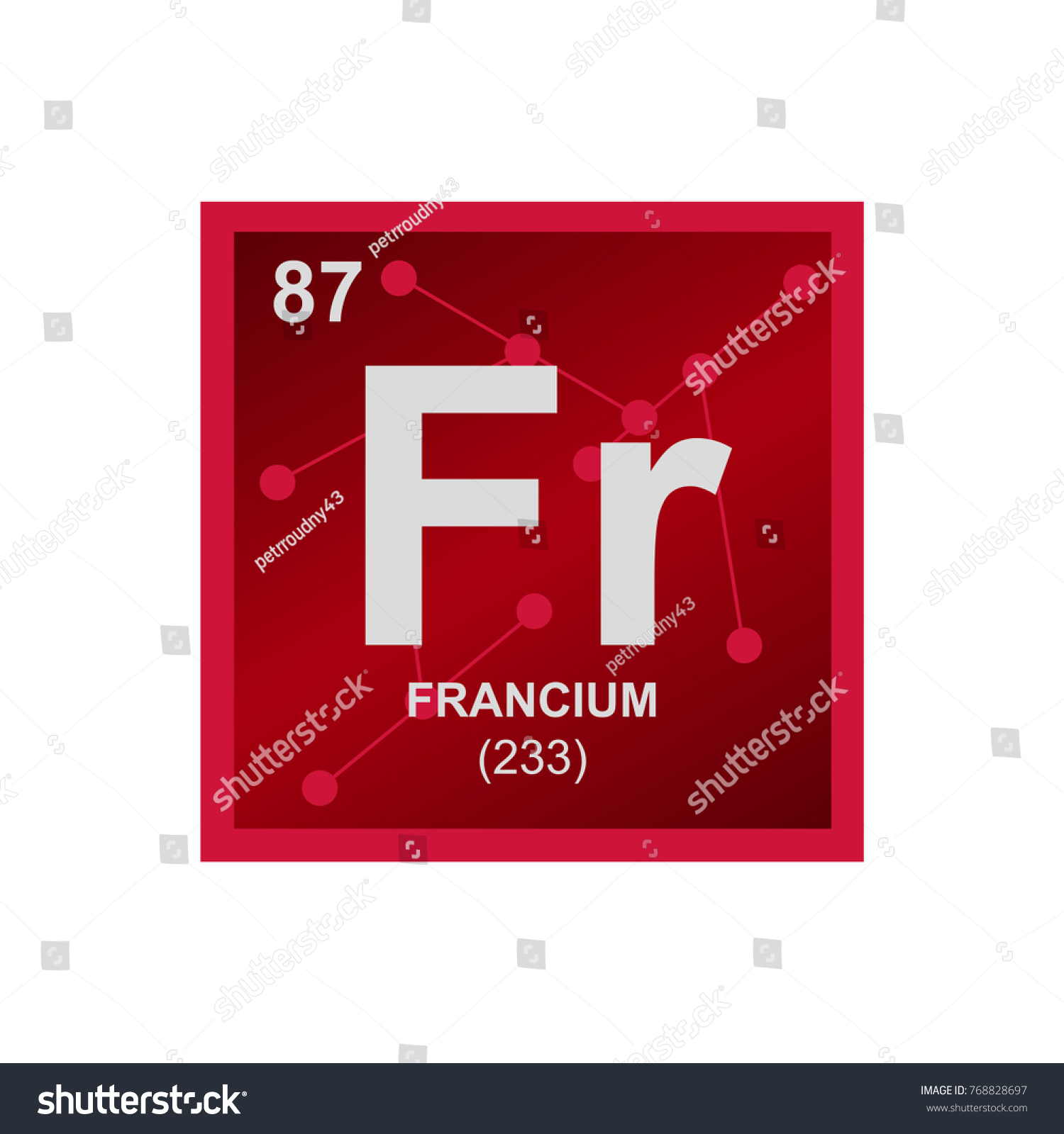 Vector Symbol Francium Periodic Table Elements Stock Vector Royalty