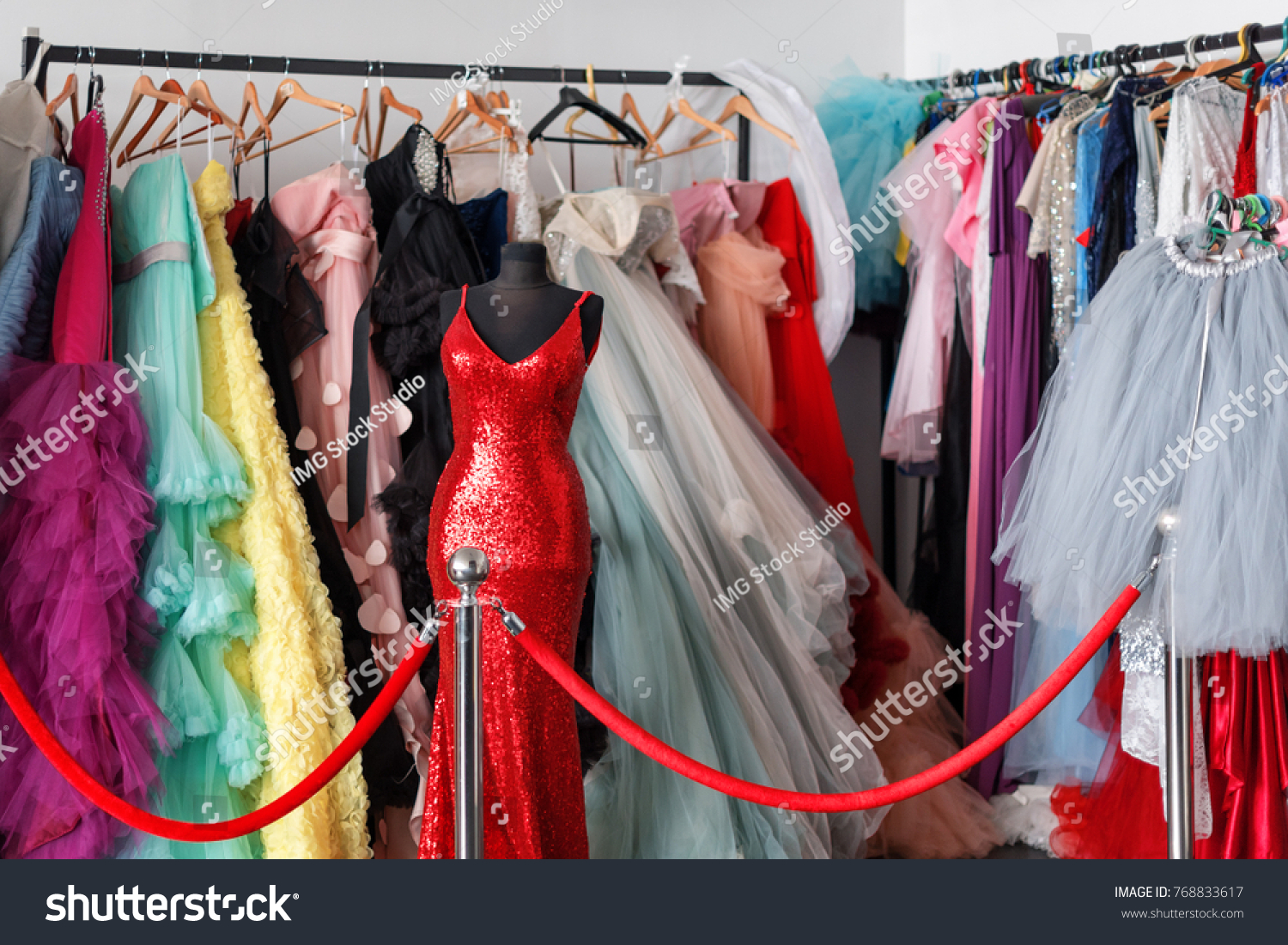Many Ladies Evening Gown Long Dresses Stock Photo (Edit Now ...