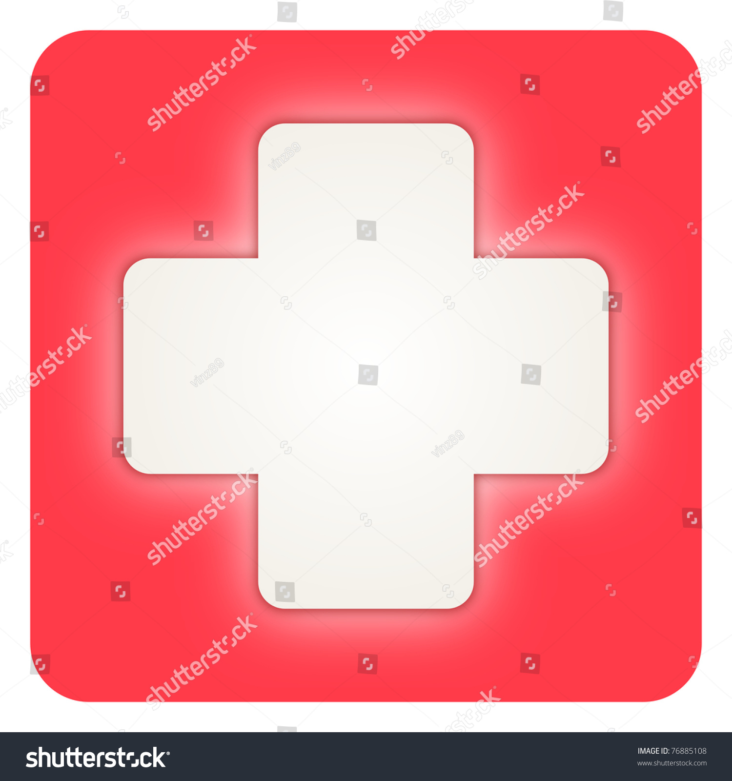 Red Cross Medical Symbol Stock Illustration 76885108 Shutterstock