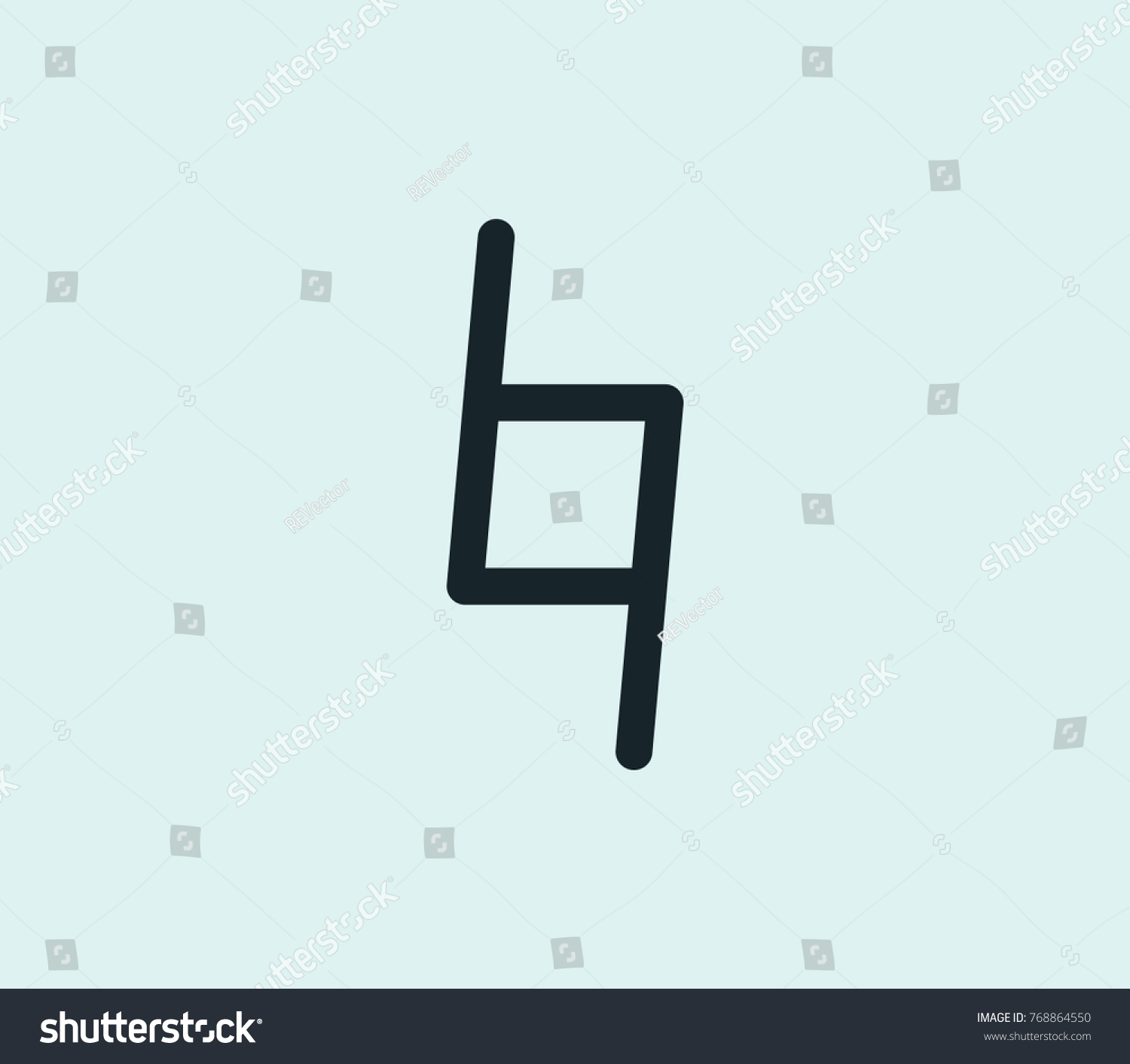 Natural Musical Sign Icon Line Isolated Stock Illustration 768864550