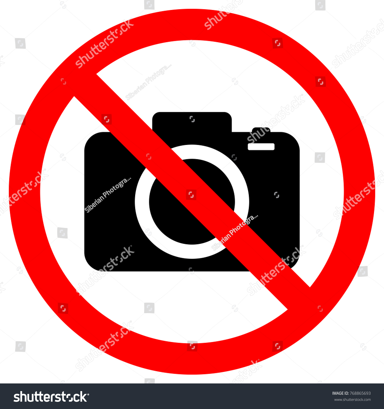 No Cameras Allowed Sign Flat Icon Stock Vector 768865693 ...
