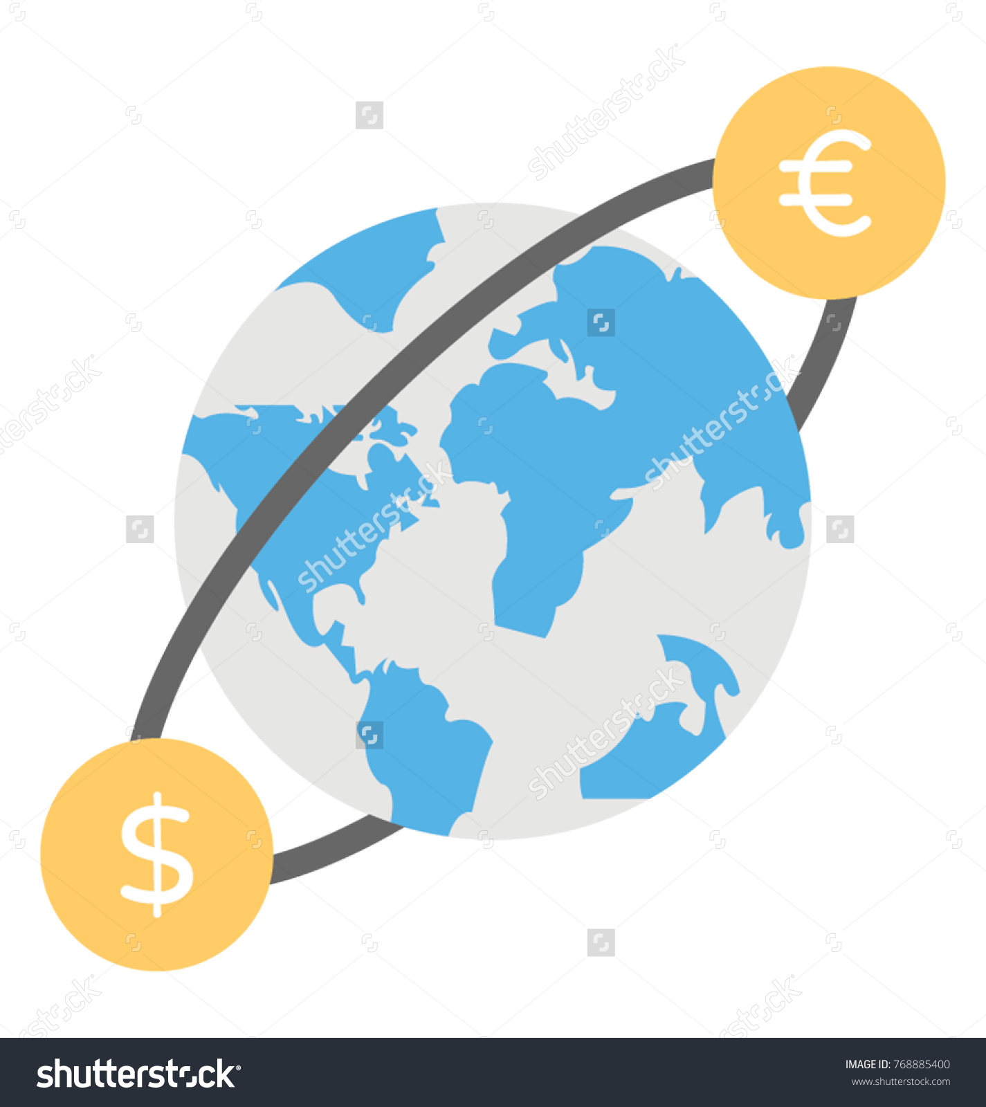World currency currency symbols moving around stock vector 768885400 world currency currency symbols moving around planet earth concept of global money exchange buycottarizona Gallery