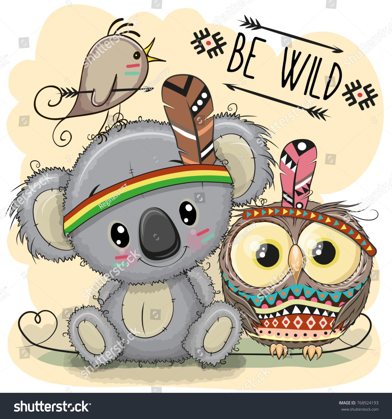 Image Vectorielle De Stock De Koala Une Jolie Tribu De