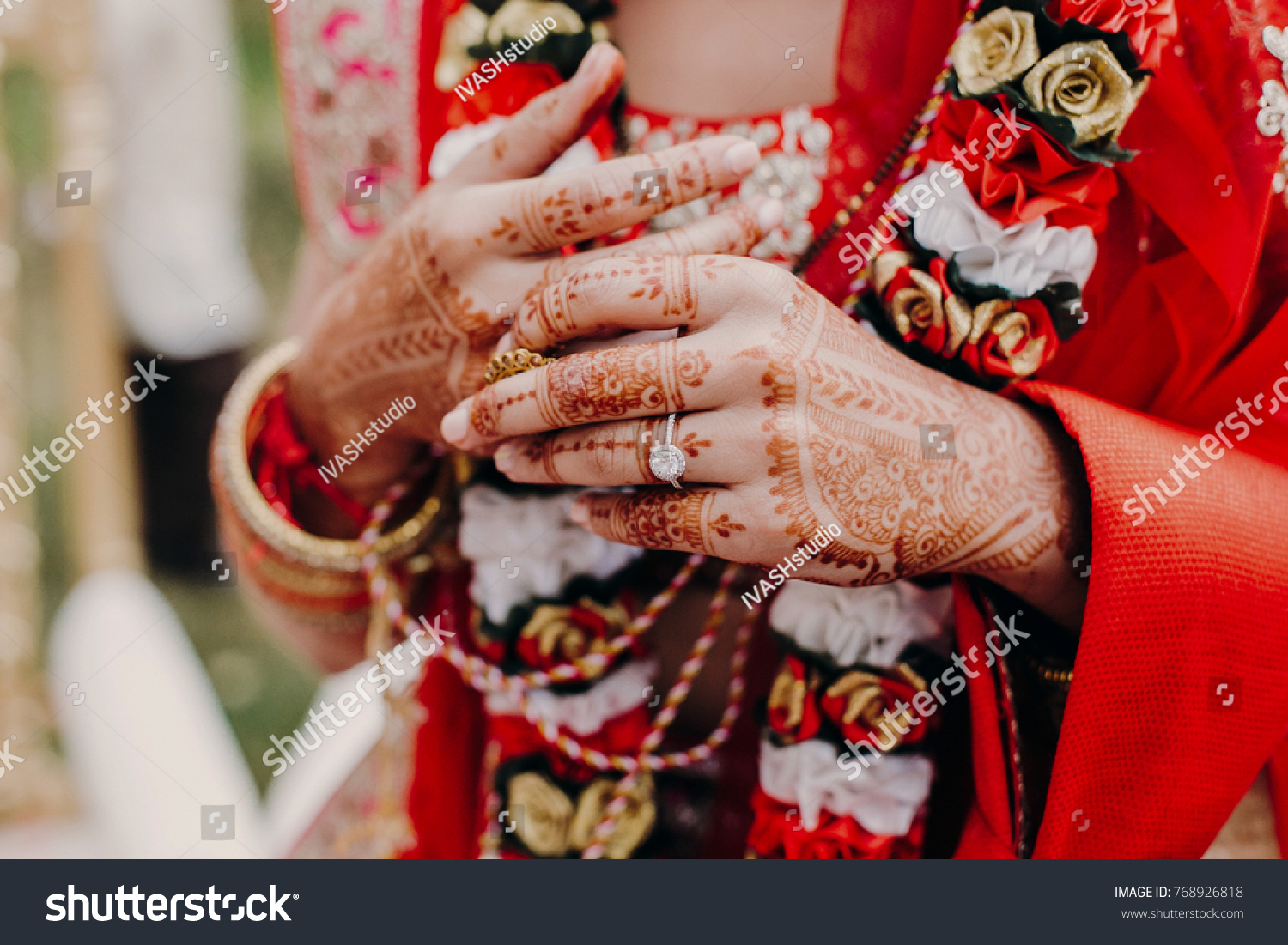 Henna Tattoo Vancouver Bc : Tender hands indian bride covered henna stock photo