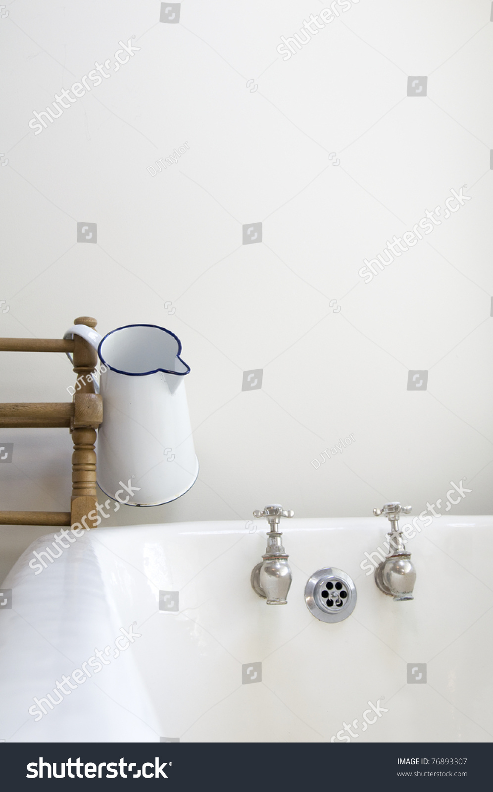 Old Fashioned Bathroom Bath Water Jug Stock Photo (Edit Now ...